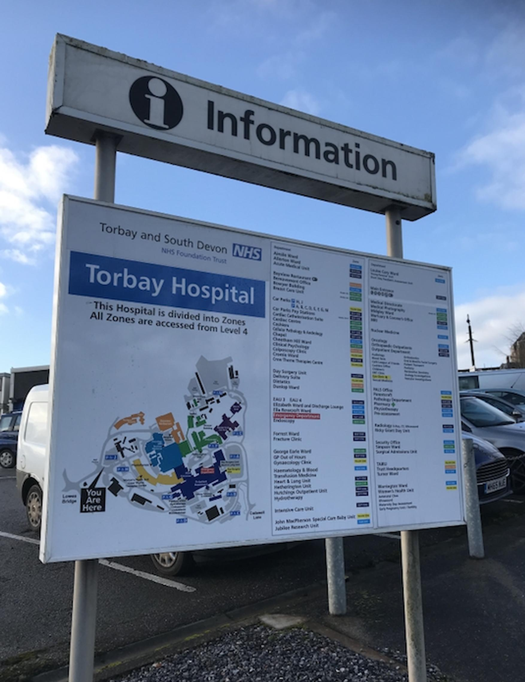 Torbay Hospital is a complex site
