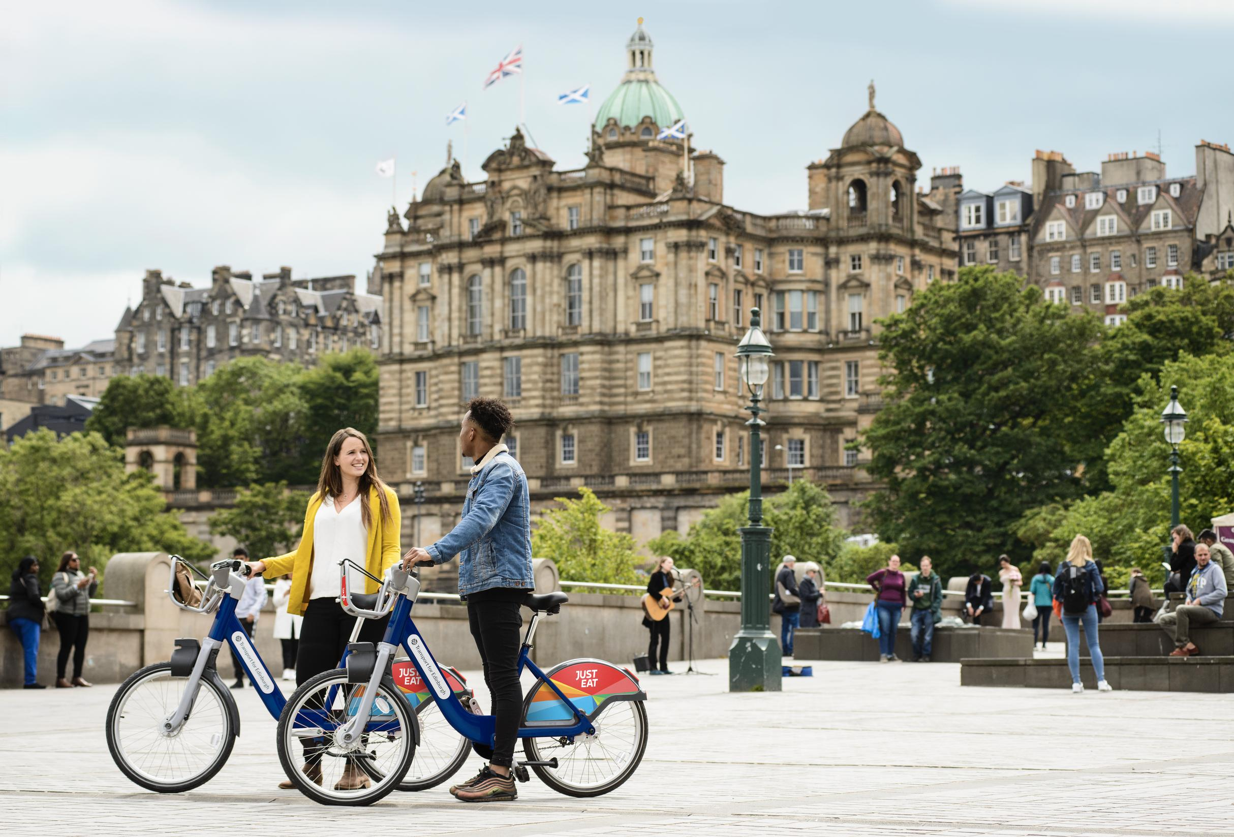 The Your Bike scheme in Edinburgh will to be known as 'Just Eat Cycles' following the recent announcement of Just Eat as the scheme sponsor