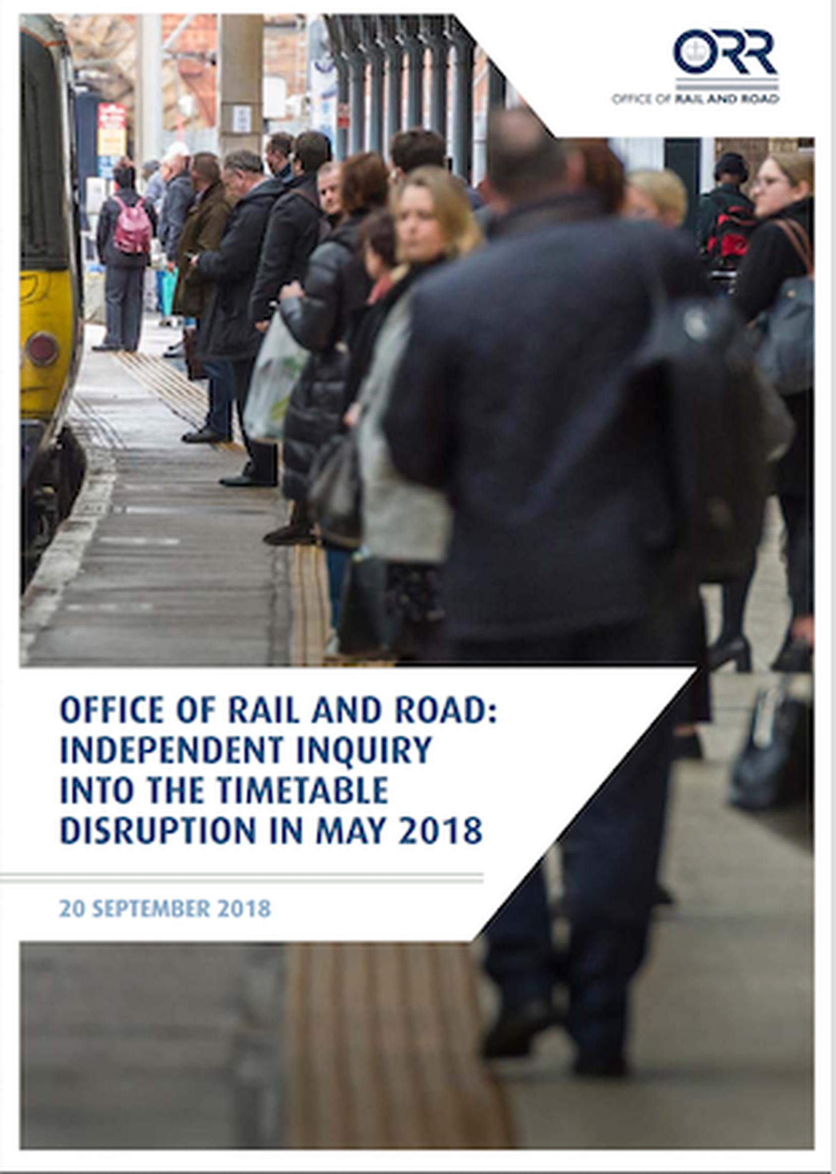 The Office of Rail and Road (ORR) has published its interim inquiry report into what caused the May 2018 timetable disruption
