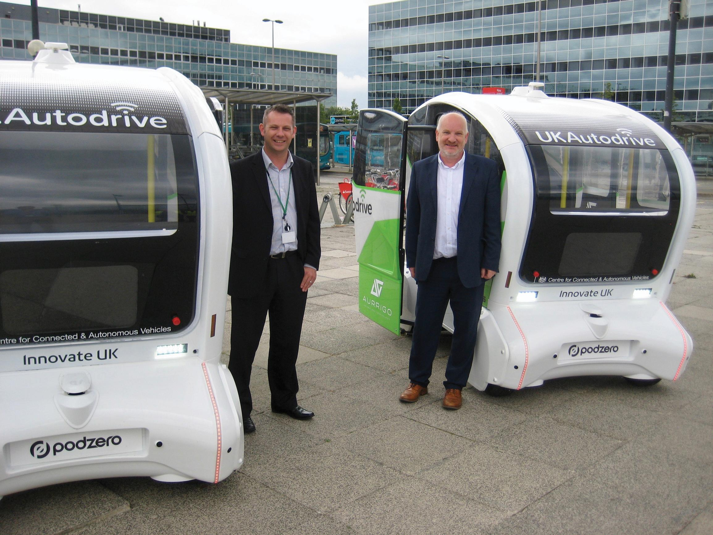 Steve Hayes (left), the council's head of transport, and Brian Matthews, its head of transport innovation