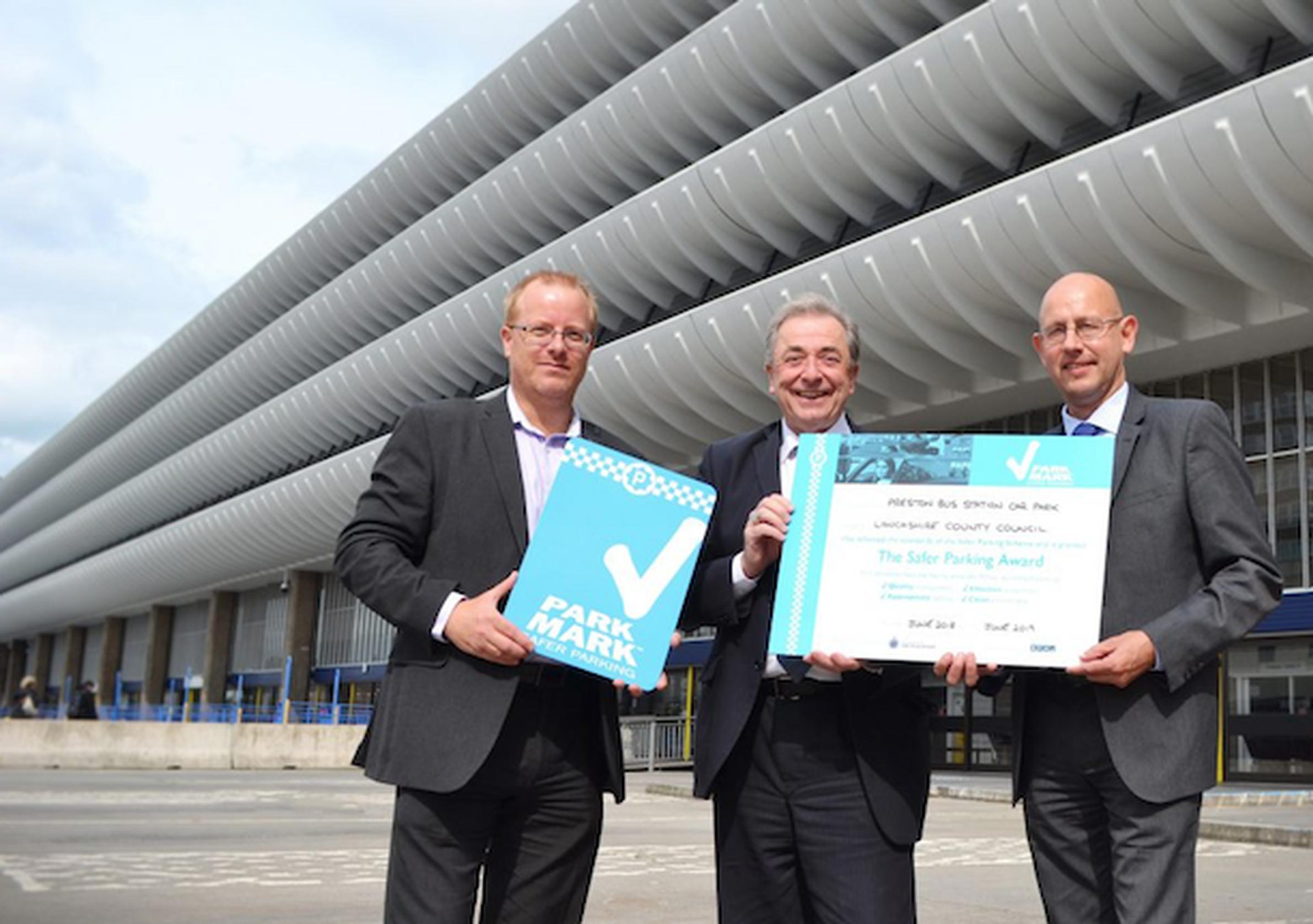 Peter Bell, regulation and enforcement manager, Lancashire County Council, Cllr Keith Iddon, cabinet member for highways and transport, Lancashire County Council and Mark Osmond, BPA area manager