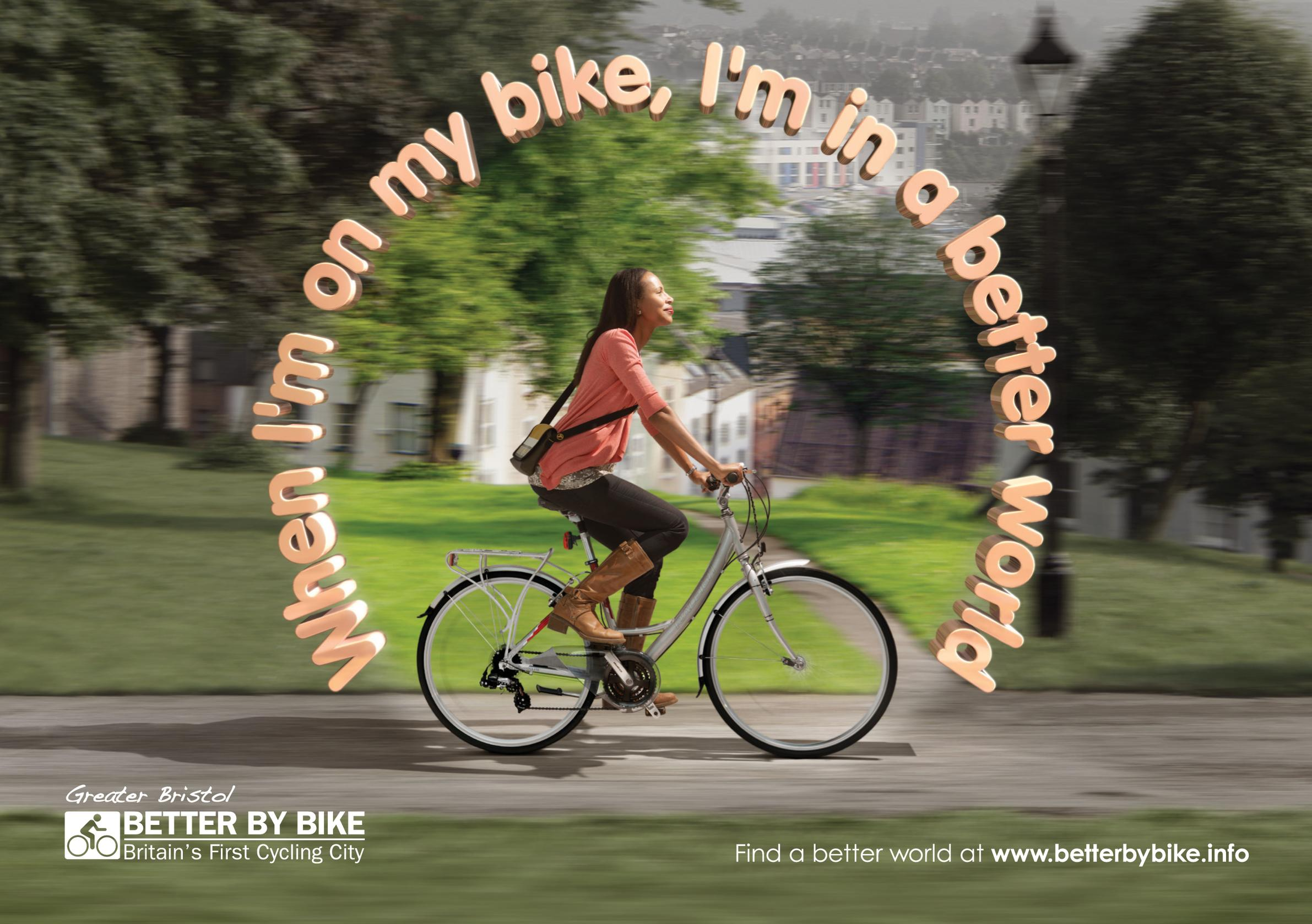 Bristol City Council's cycle promotion campaign adopted a celebratory rather than preachy tone