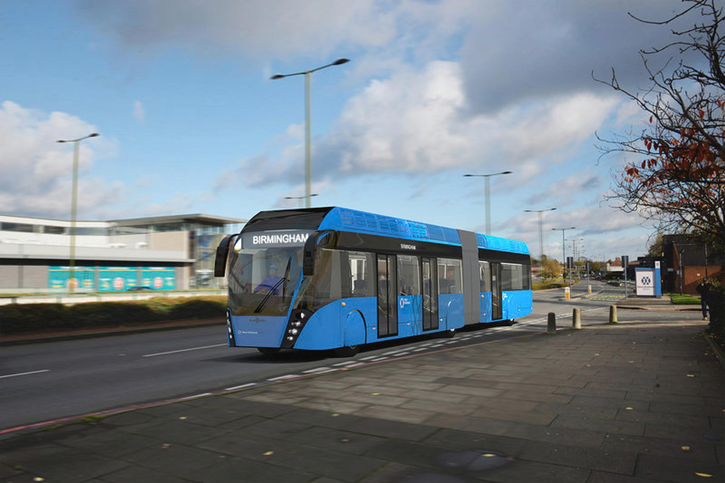 An artist's impression of one of the fleet of 80 Bus Rapid Transit vehicles set to be procured. They will be 18m long and feature low noise, low vibration and low emissions as standard