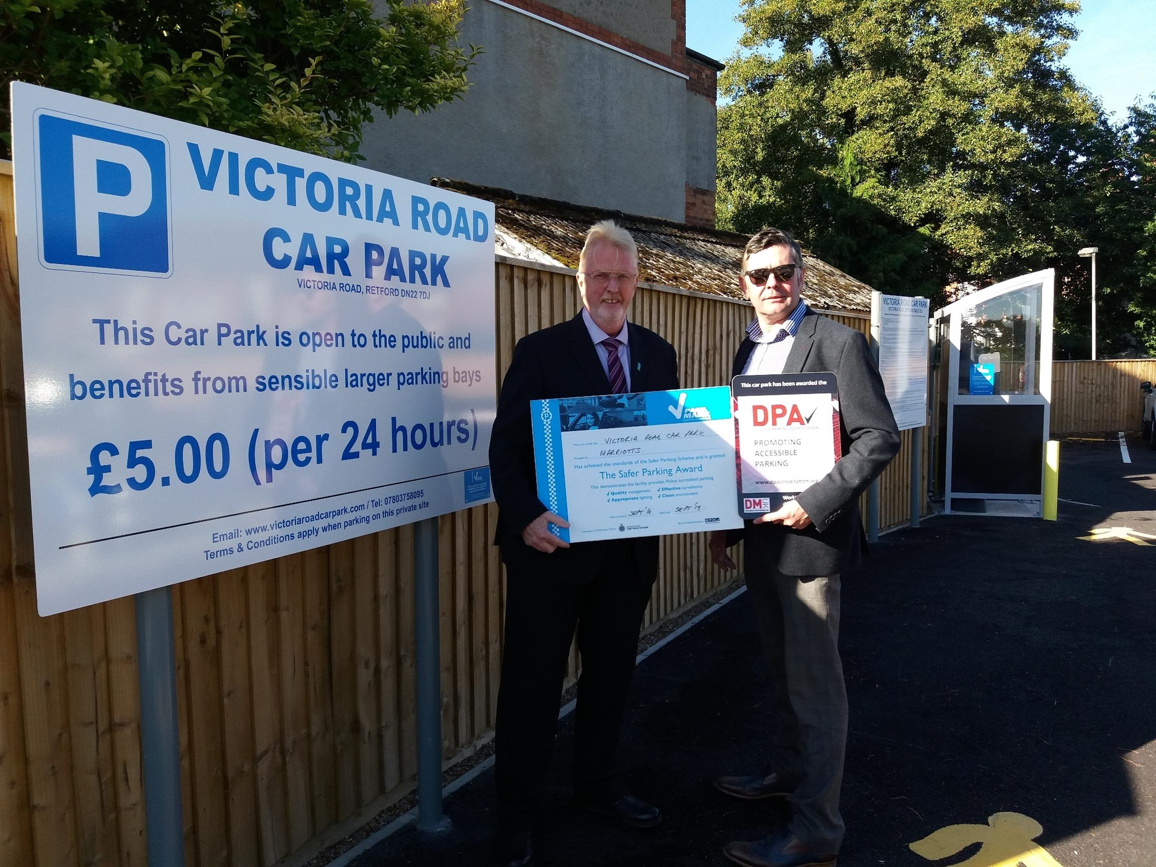 New Retford car park is safe and secure