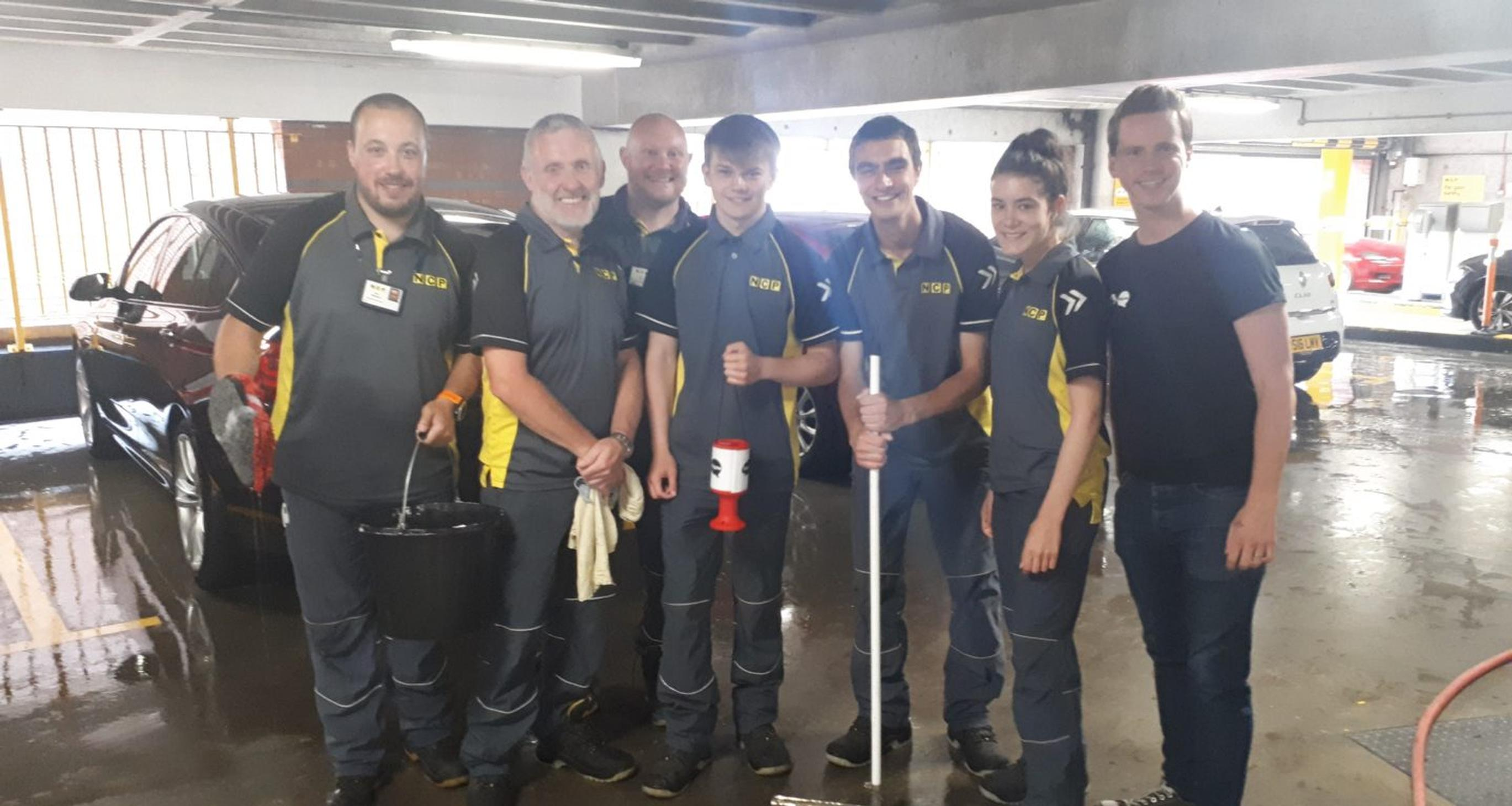 NCP car wash cleans up for mental health charity