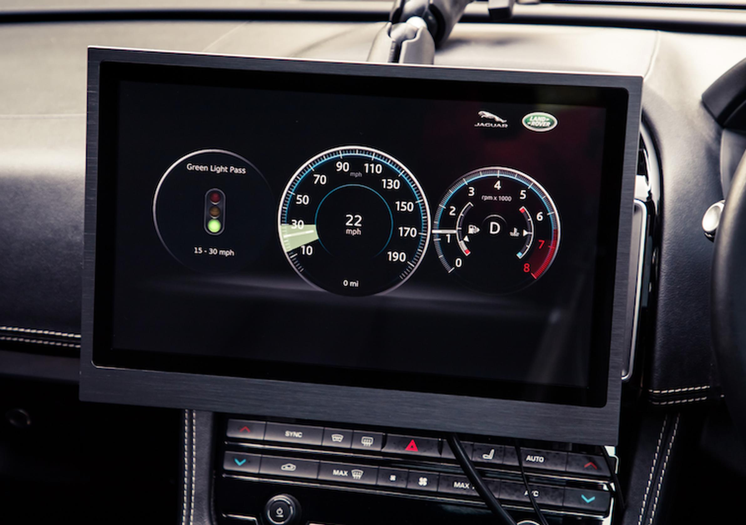 "The Green Light Optimal Speed Advisory (GLOSA) system has been developed by Jaguar Land Rover to allow cars to ""talk"" to traffic lights"