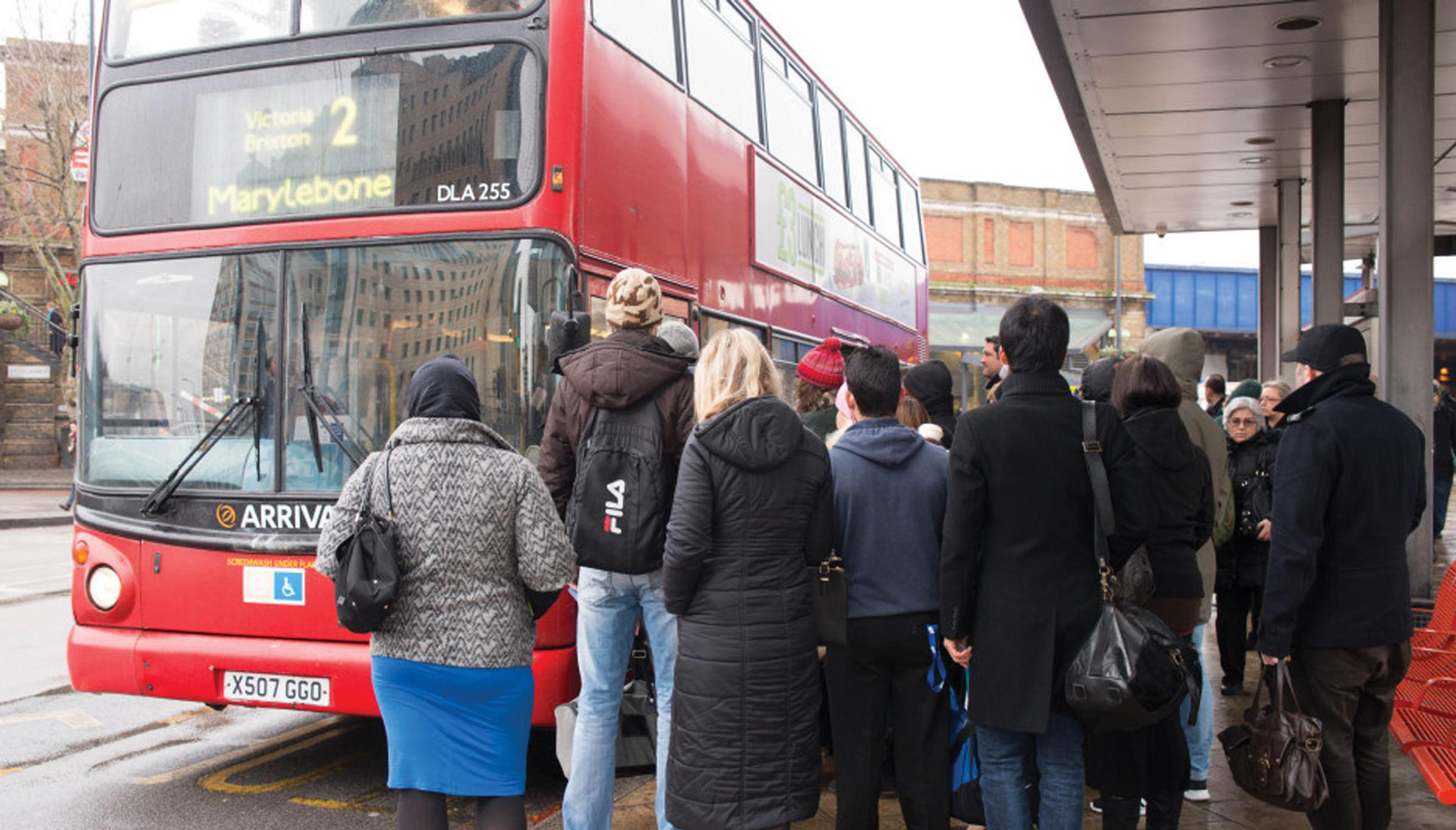 Buses: evening and weekend trips down