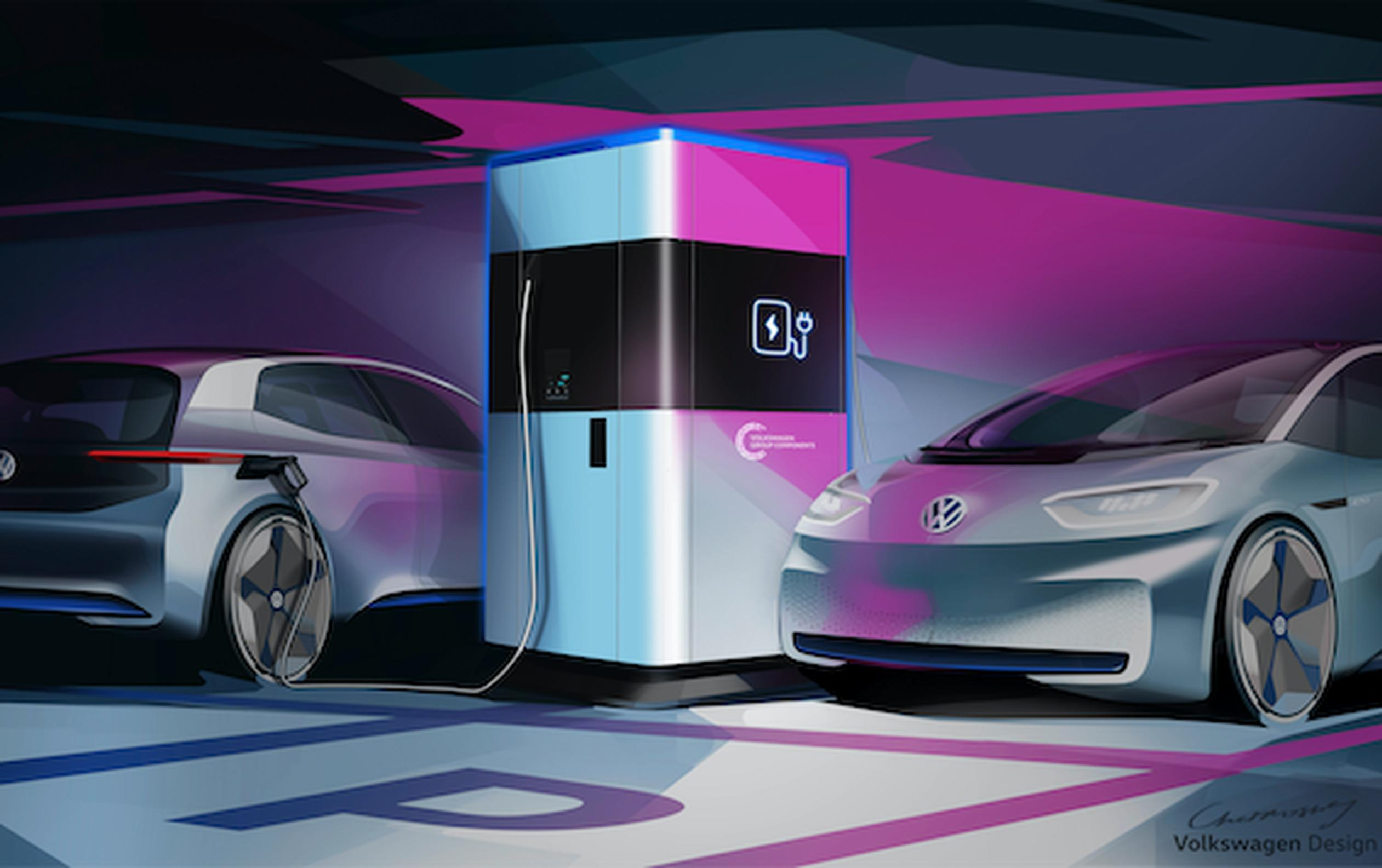 VW`s proposed mobile electric vehicle charger