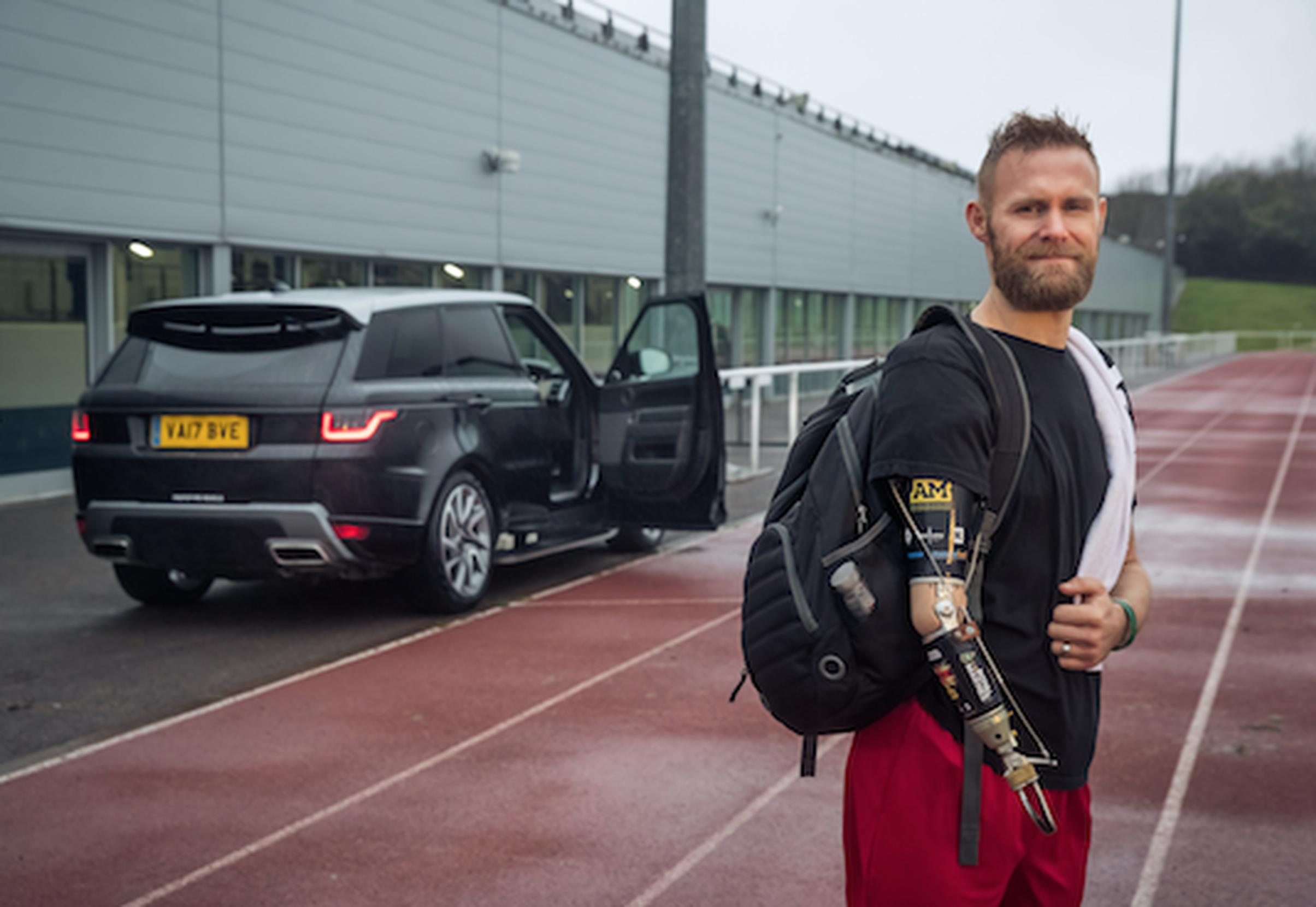 Former Royal Marine Commando Mark Ormrod has been testing a Range Rove Sport equipped with the mobility door