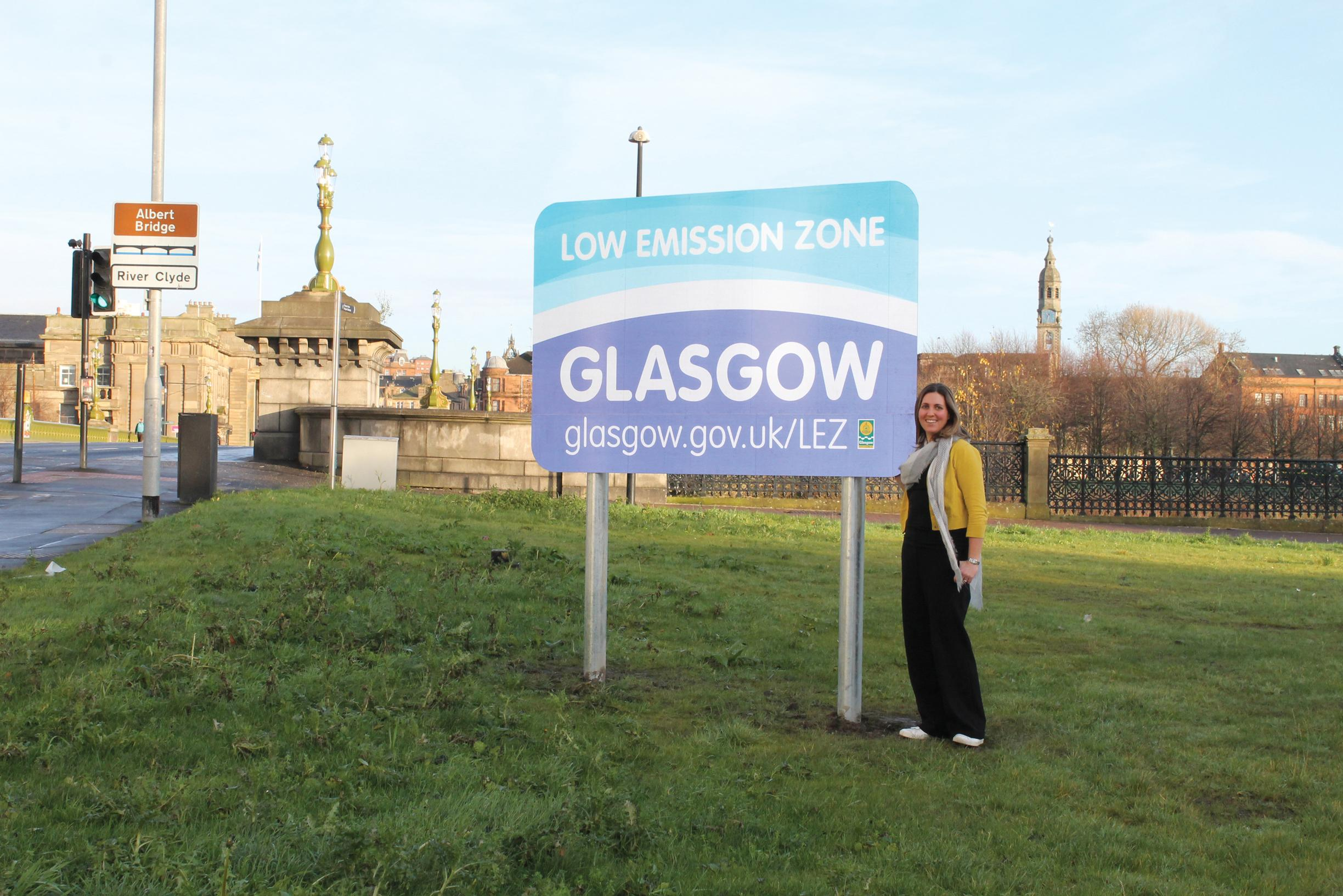 Councillor Anna Richardson, Glasgow's convener for sustainability and carbon reduction, at the launch of the LEZ