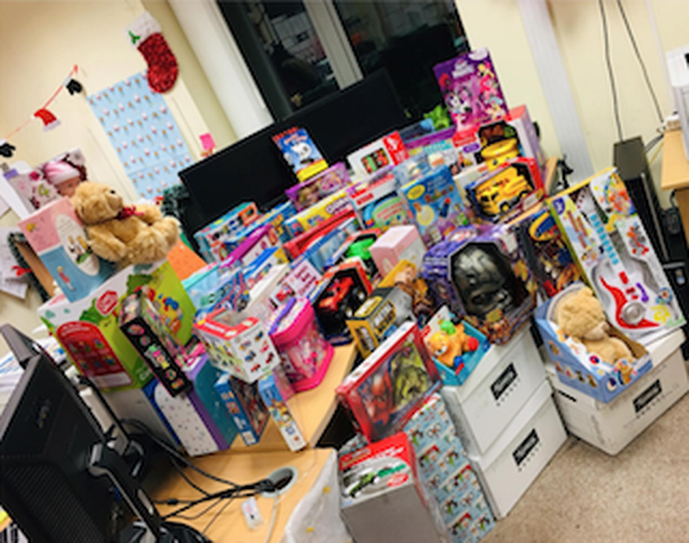 The toys collected by APCOA staff