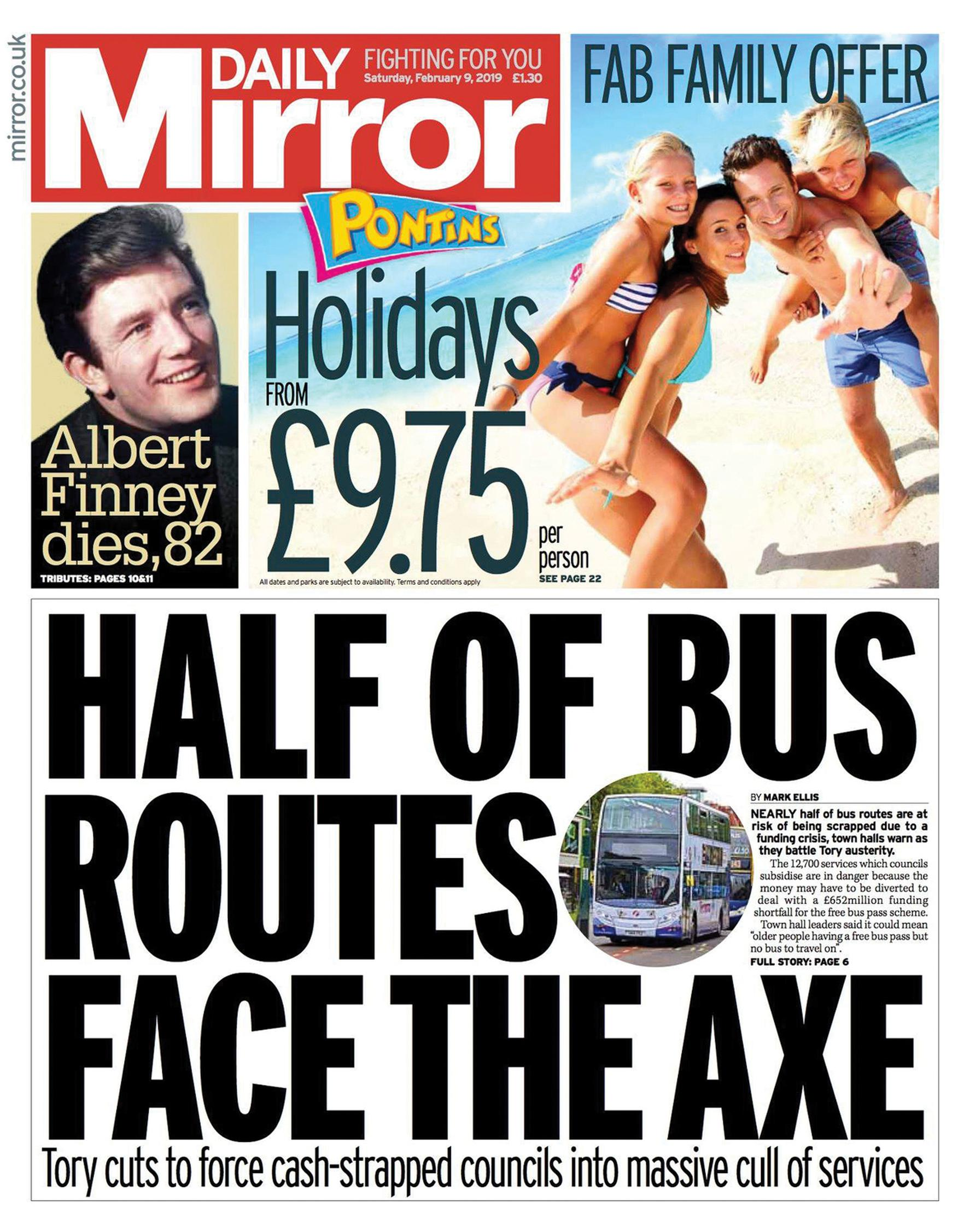 HS2 cash should fund buses, says Guardian, as Mirror warns of huge cuts