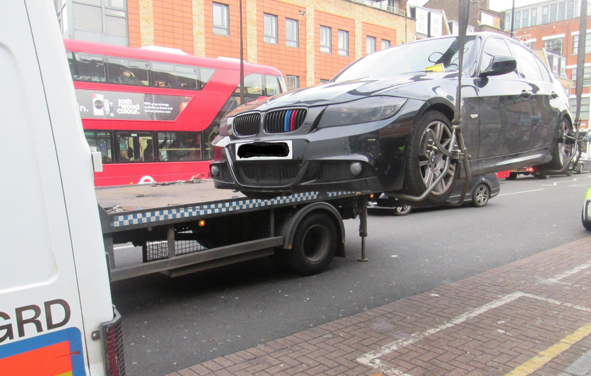 A car belonging to a suspected drug dealer is lifted