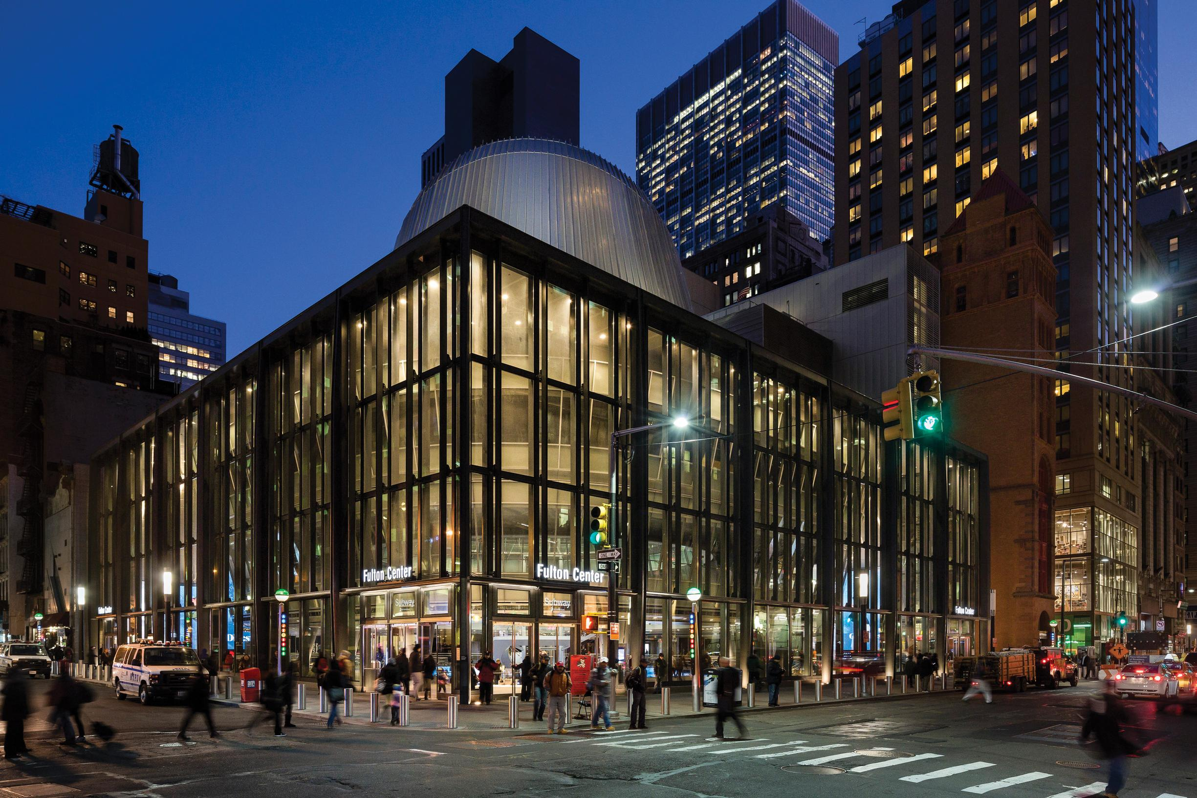 The mayor envisages a station similar to the Fulton Center in New York