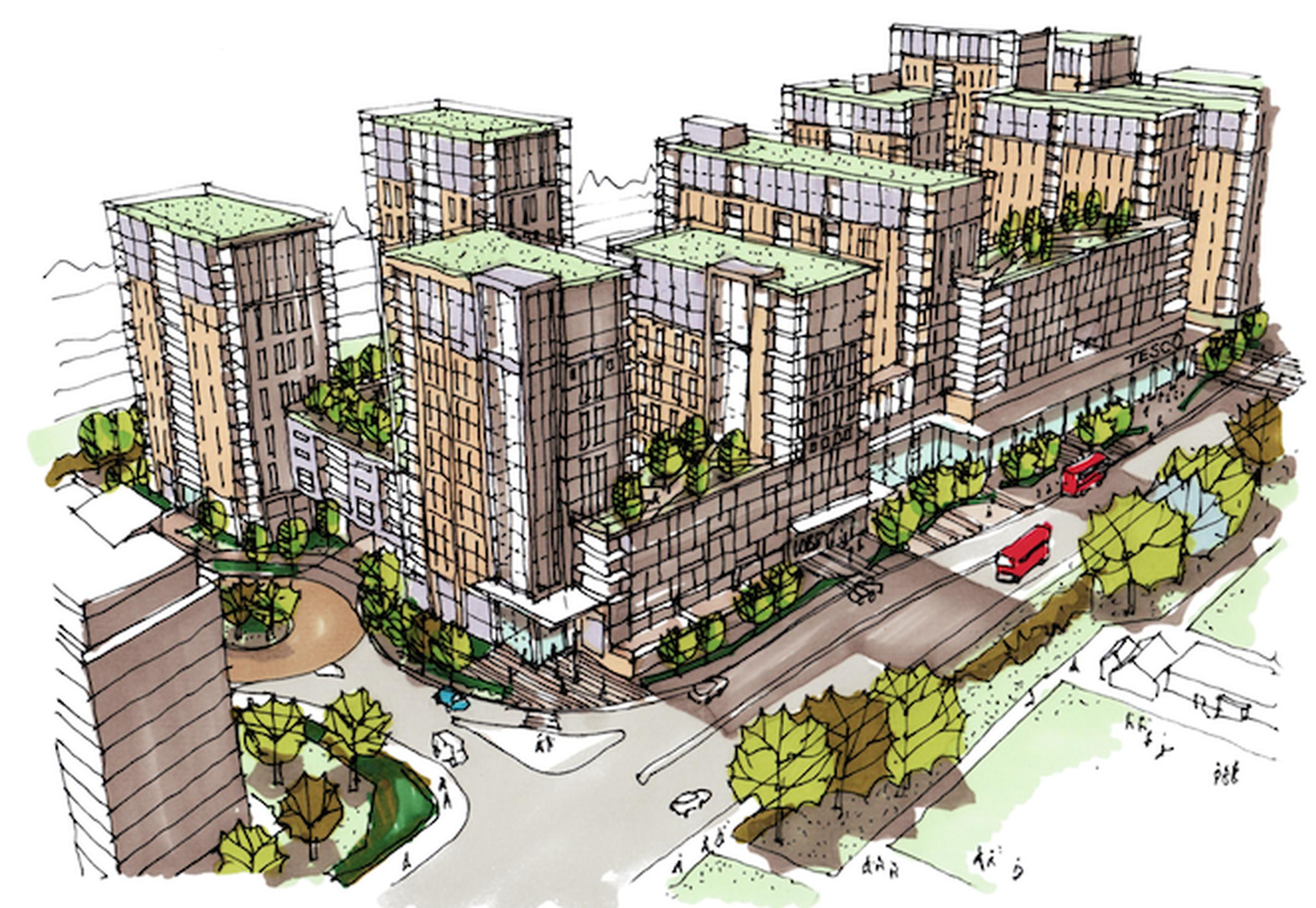 Weston Homes and Tesco`s proposal