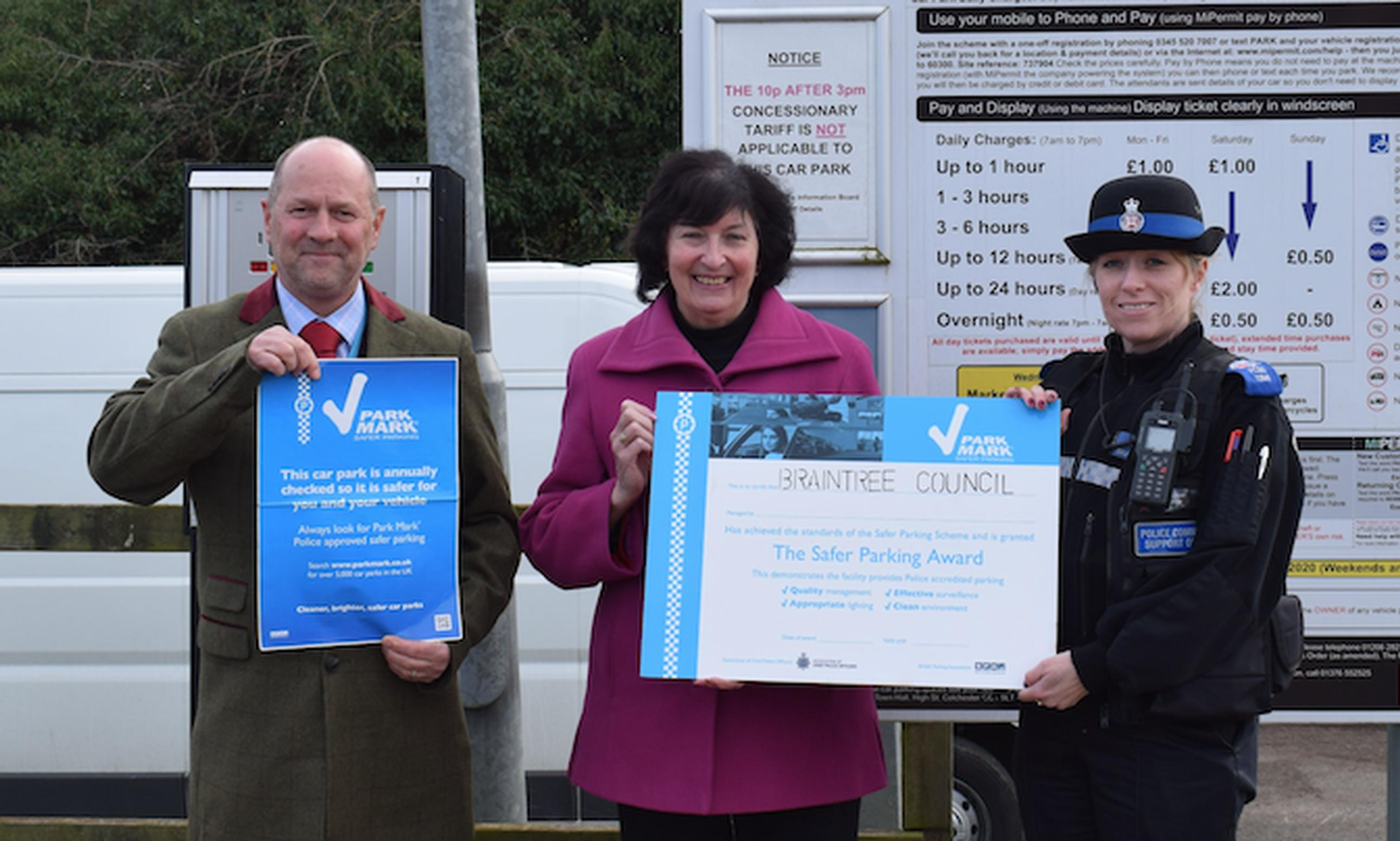 Braintree receives Park Mark awards for all its car parks