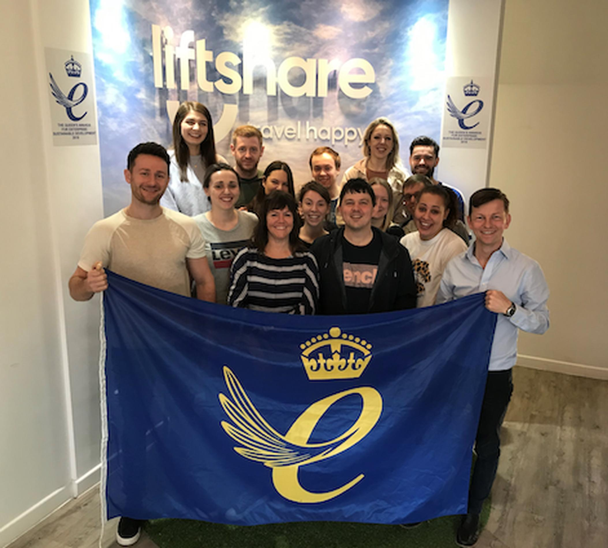 The Liftshare team celebrate