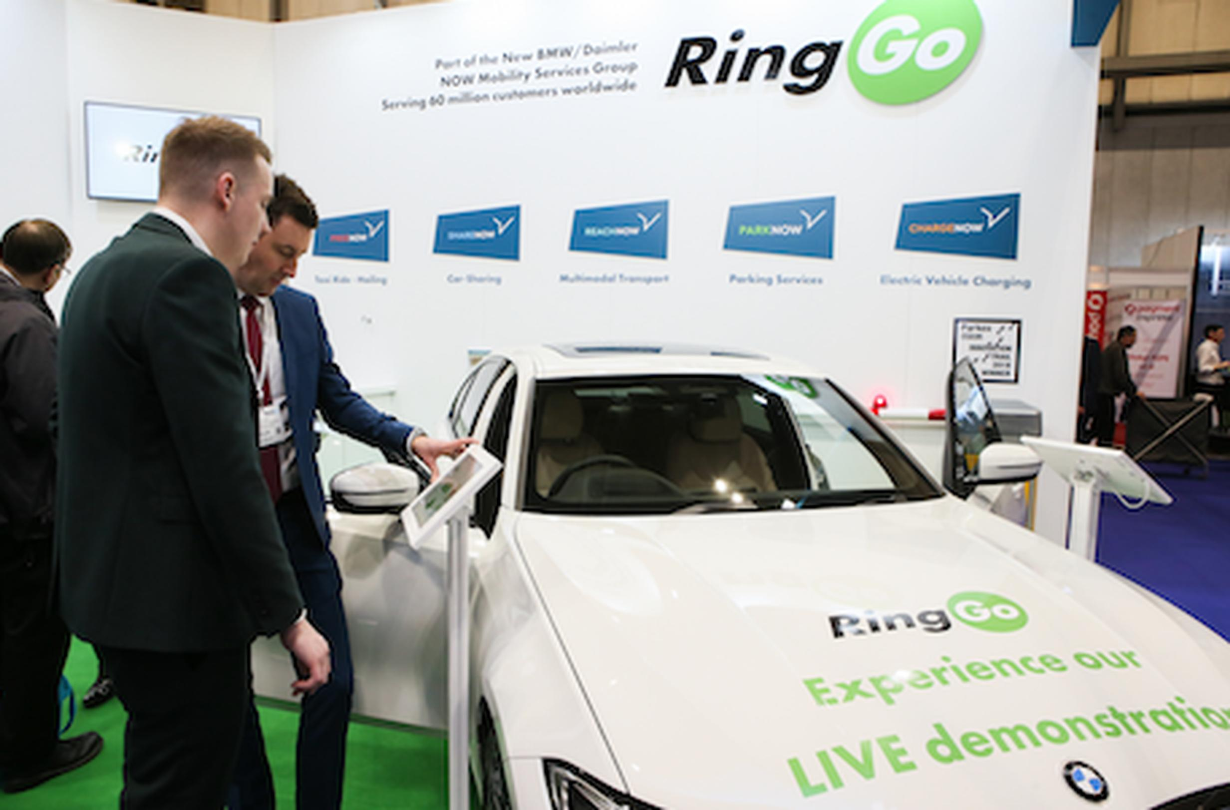 RingGo demonstated its voice-activated in-car services at Parkex using a BMW 3 Series