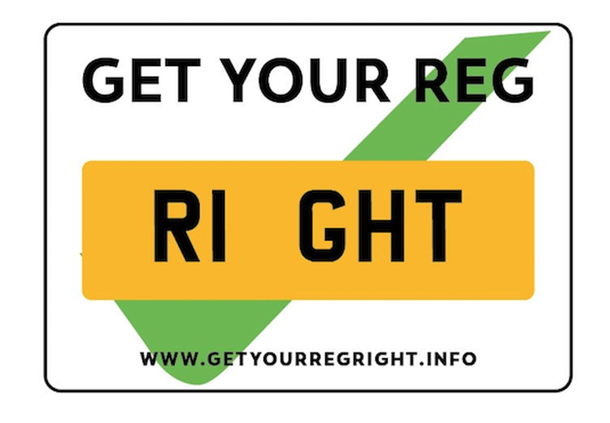 The 'Get Your Reg Right' logo