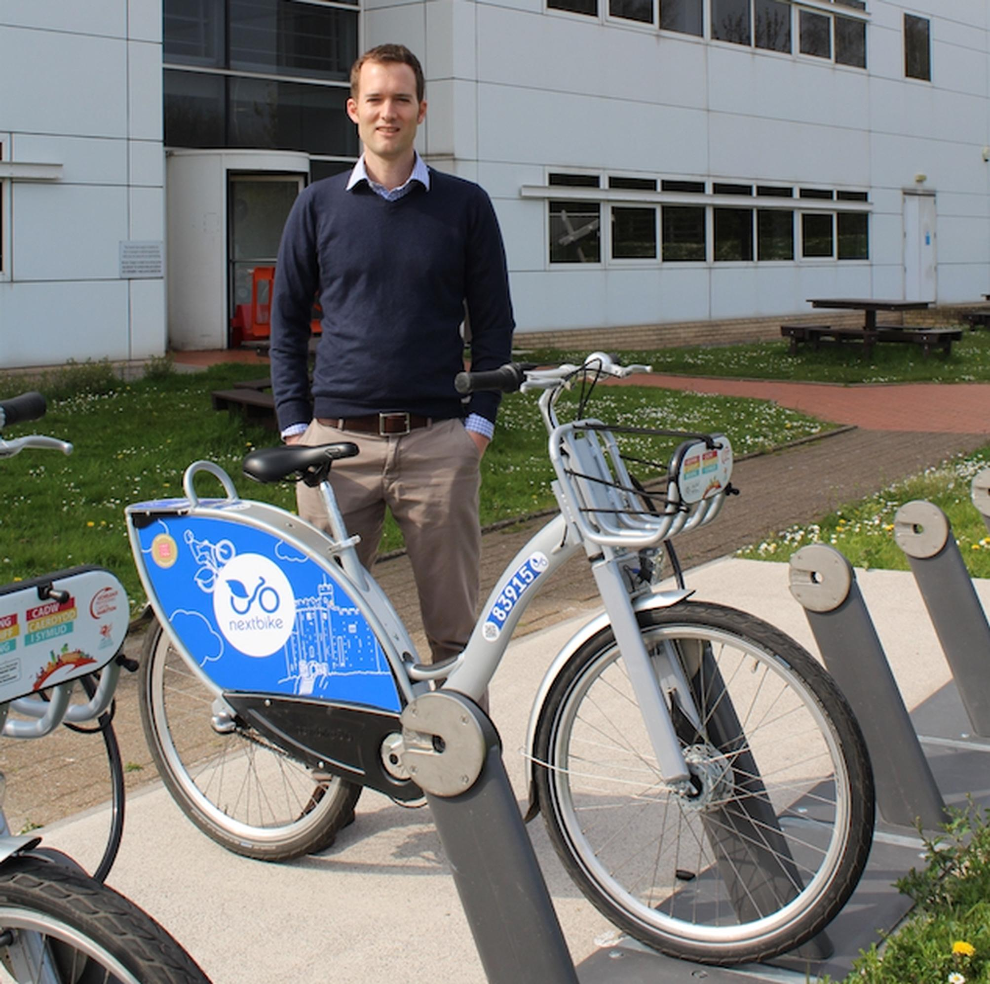 Dr Tom Porter: `The bike hire pilot is a fact-finding process and we will tweak things along the way.`