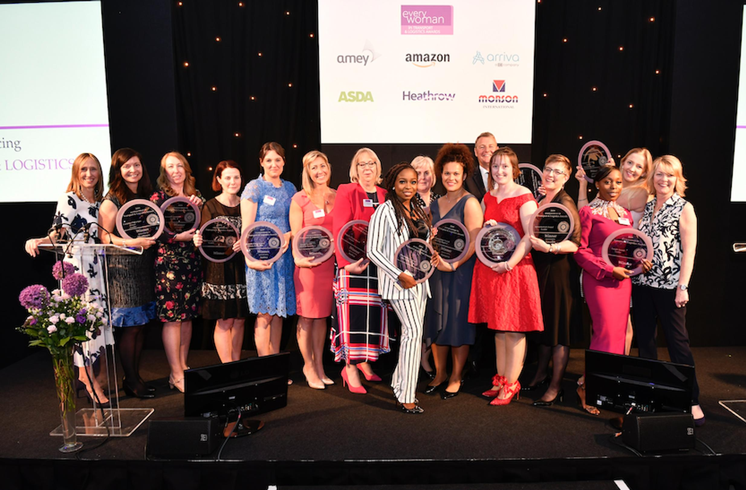 The winners of the 2019 everywoman in Transport & Logistics Awards