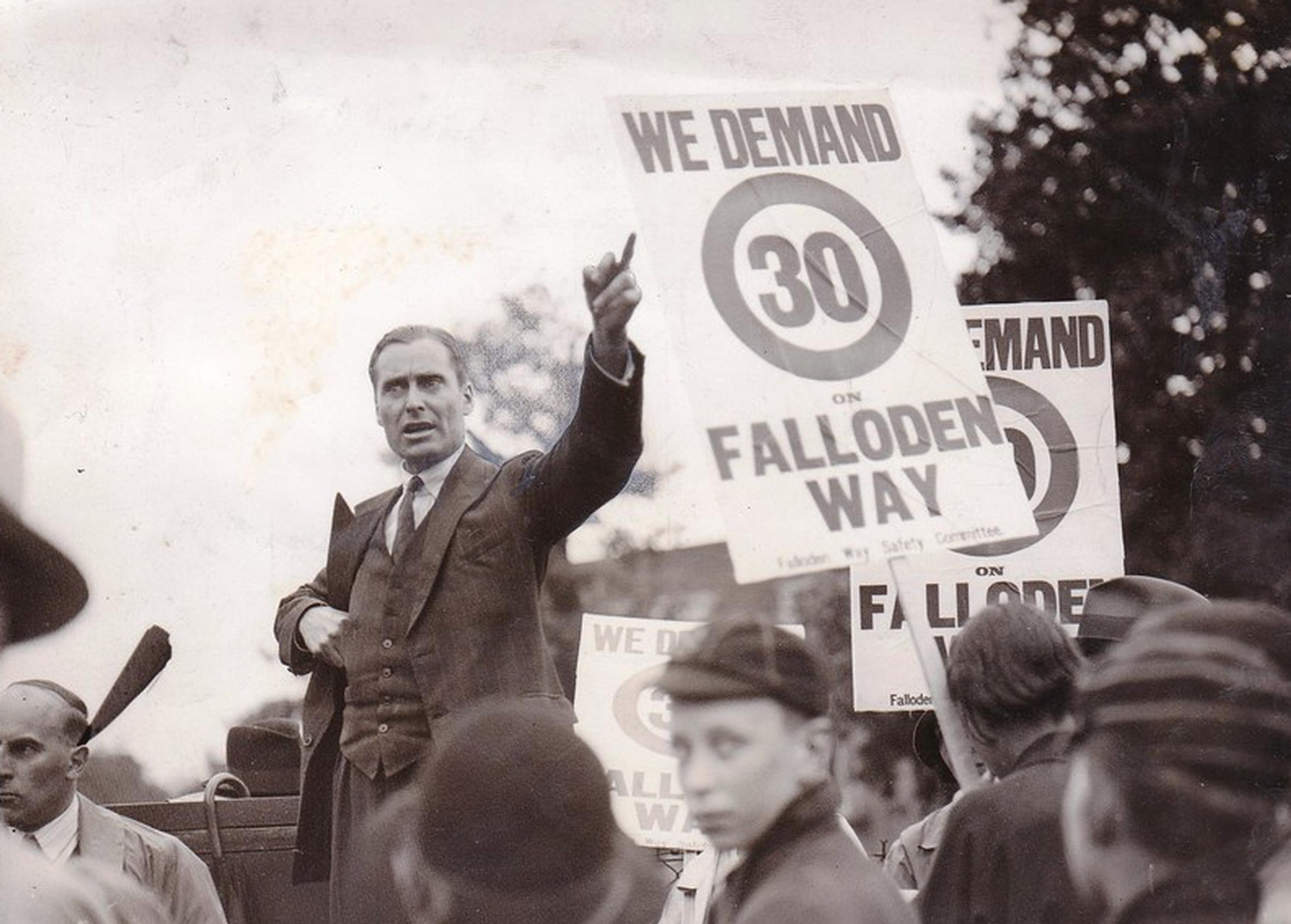 Tom Foley campaigning in the 1930s