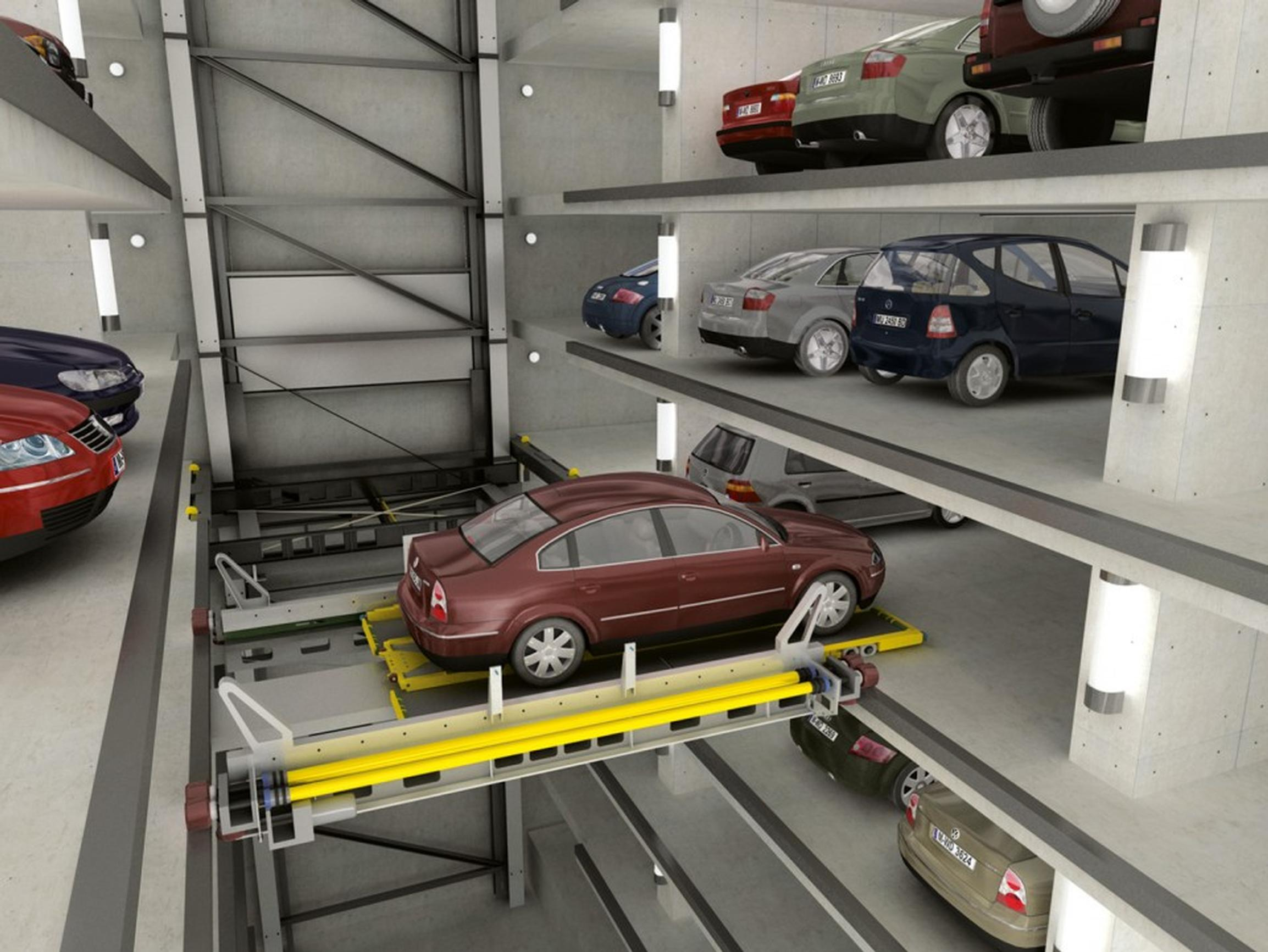 Building information models for robotic parking systems