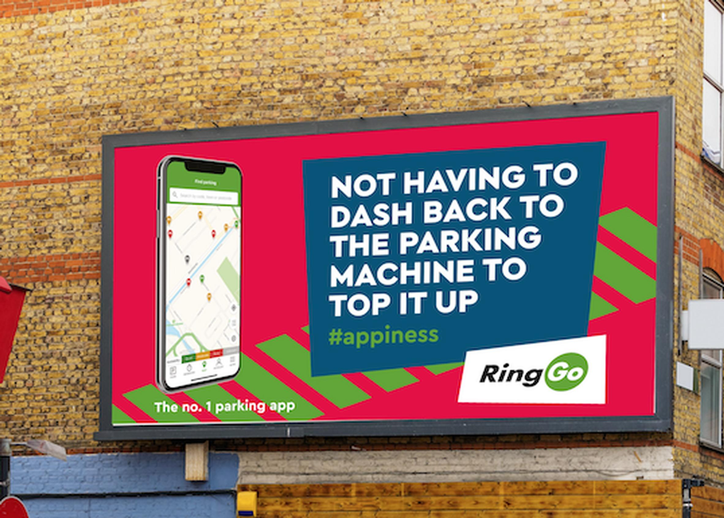 RingGo is the first parking solution within NOW group to feature the new #appiness creative