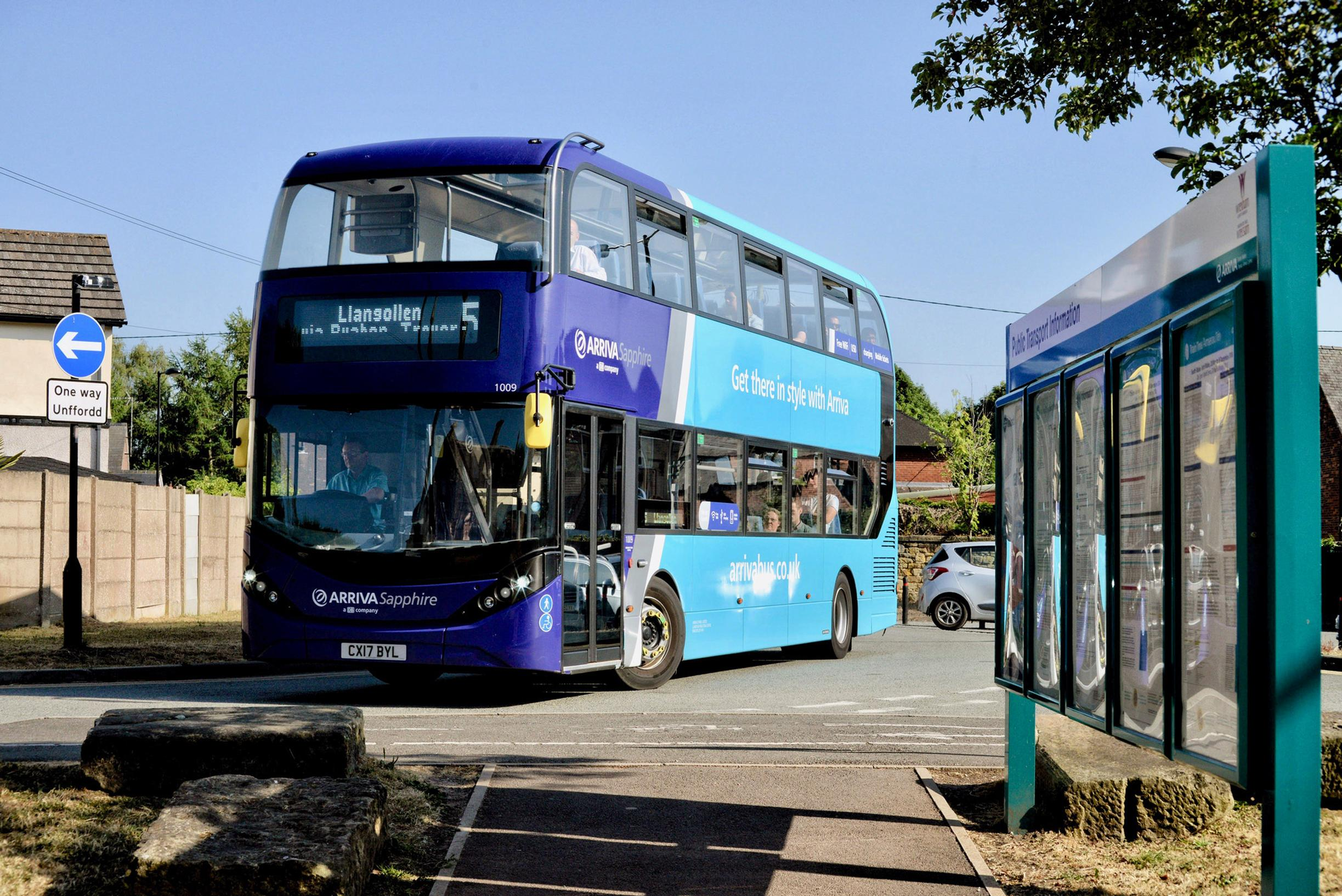 Arriva's No.5 at Ruabon