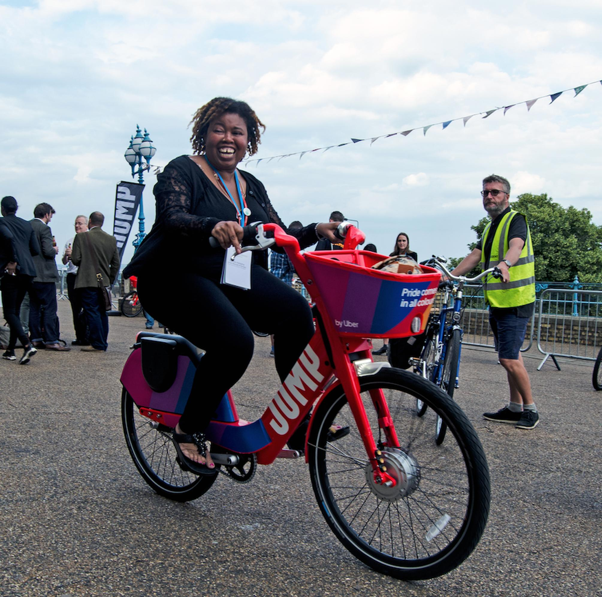 The event ended with a led cycle ride on Jump e-bikes from Alexandra Palace to Crouch End