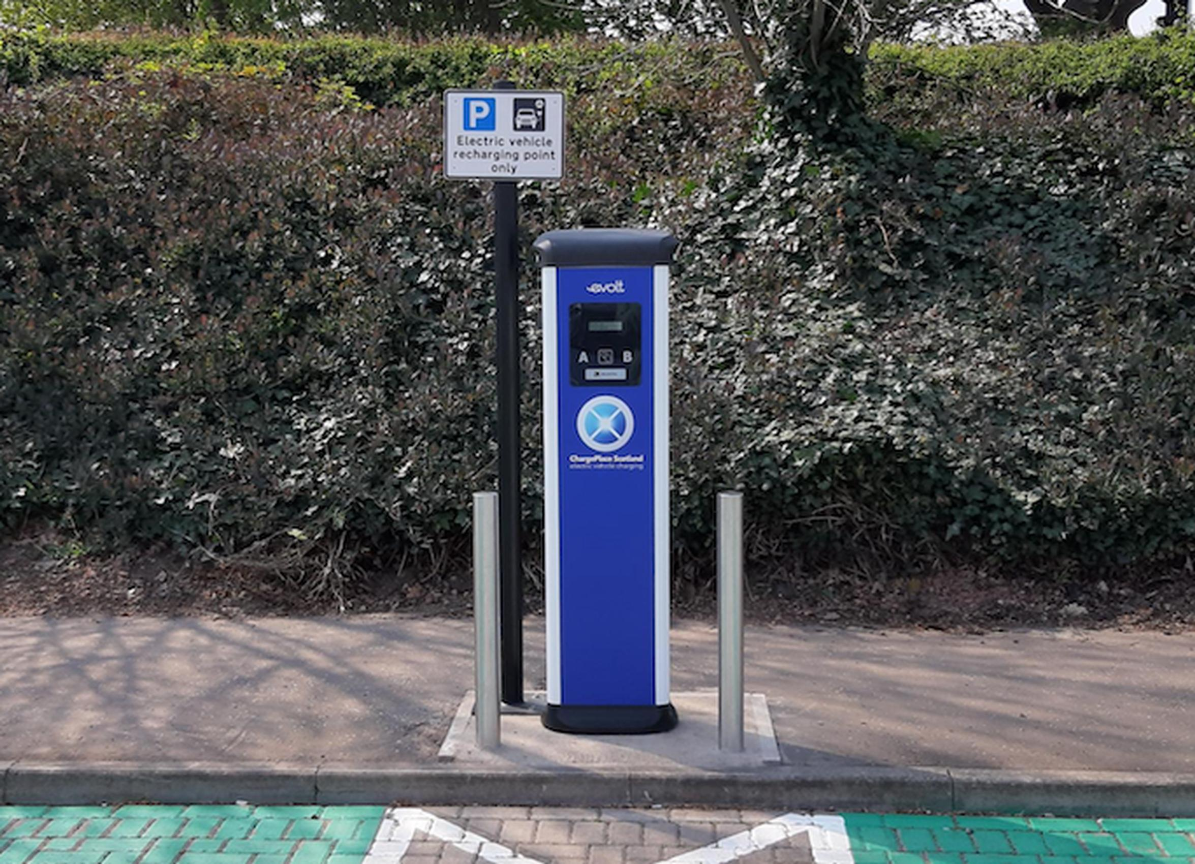 An East Lothian Council EV charger
