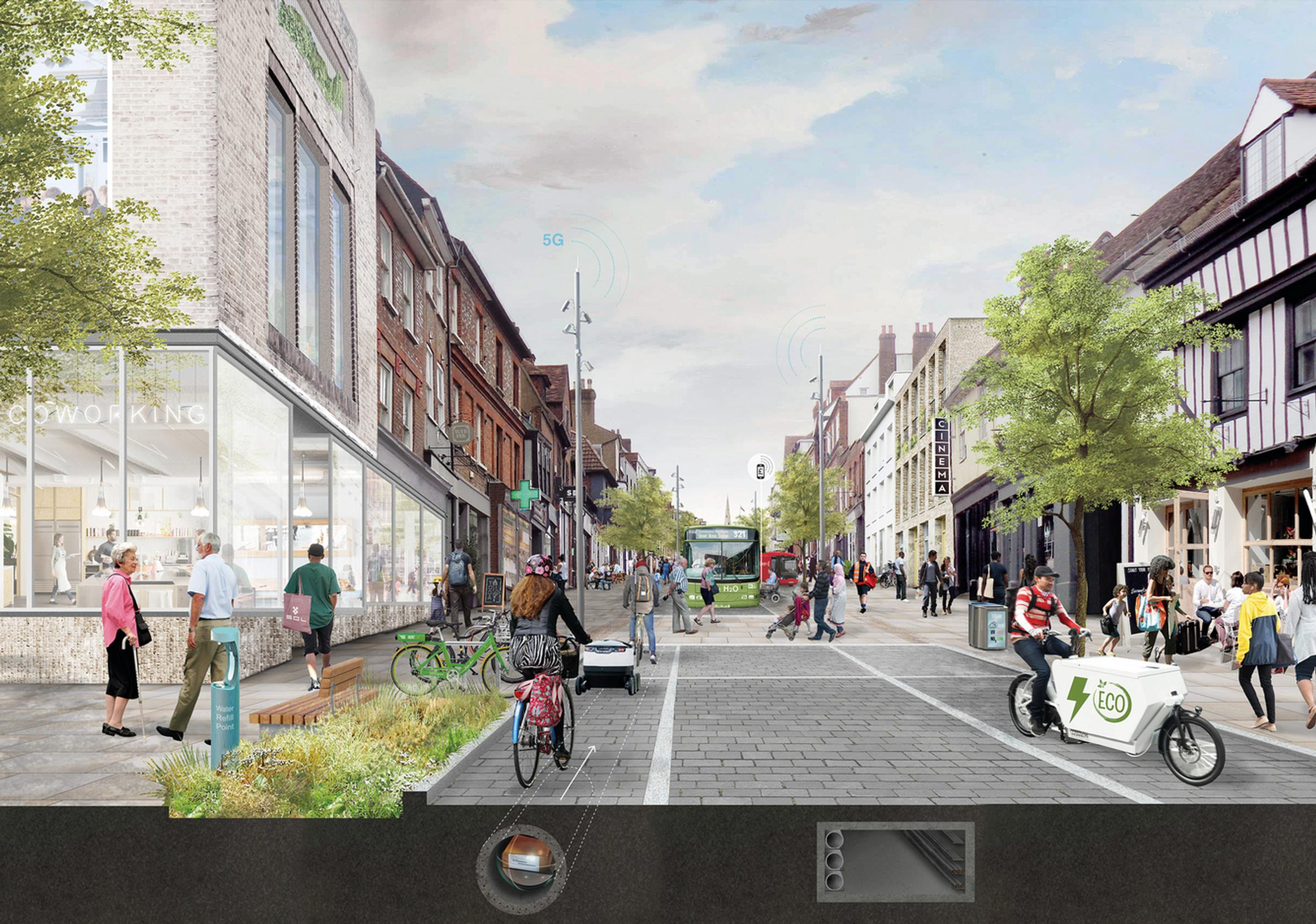 England`s Economic Heartland and 5th Studio`s vision of the High Street in 2050