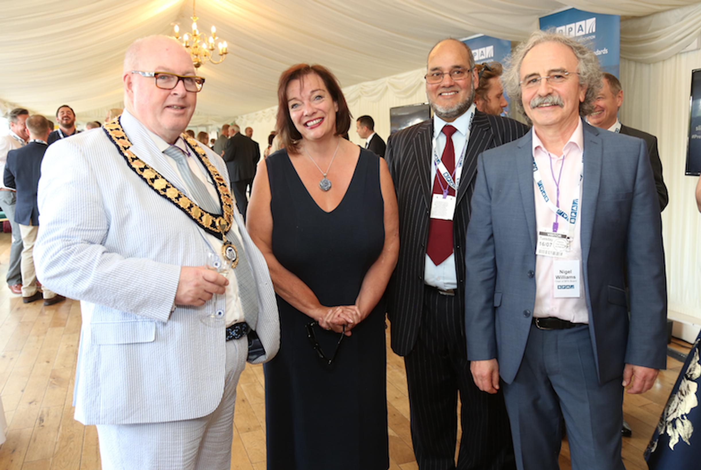 BPA president John McArdle, Lyn Brown MP, BPA past-president Zulfi Ali and BPA board chair Nigel Williams