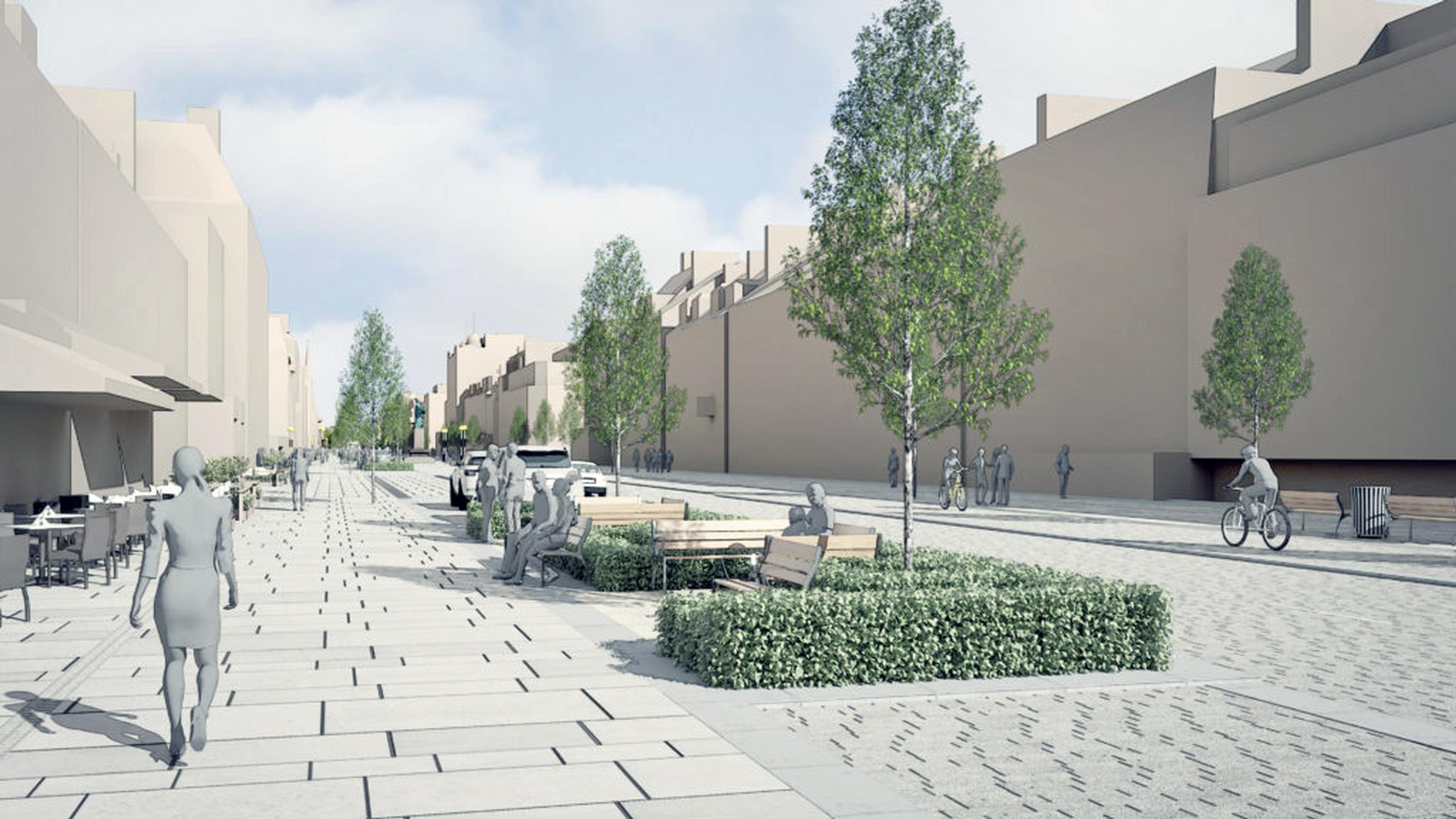 A concept image for Edinburgh's George Street scheme