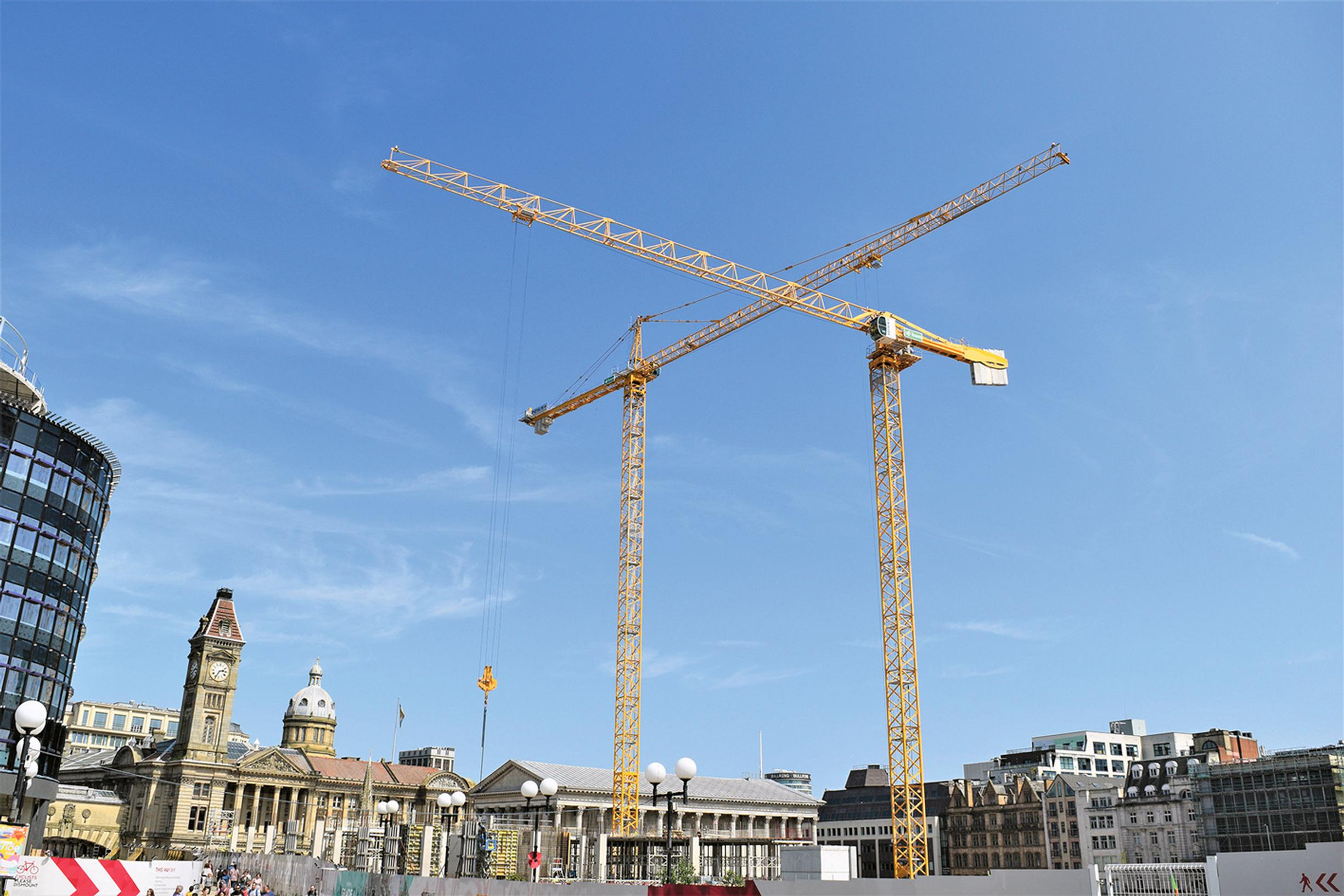 Are the cranes in Birmingham really a sign of HS2's regenerative powers, asks Tony May