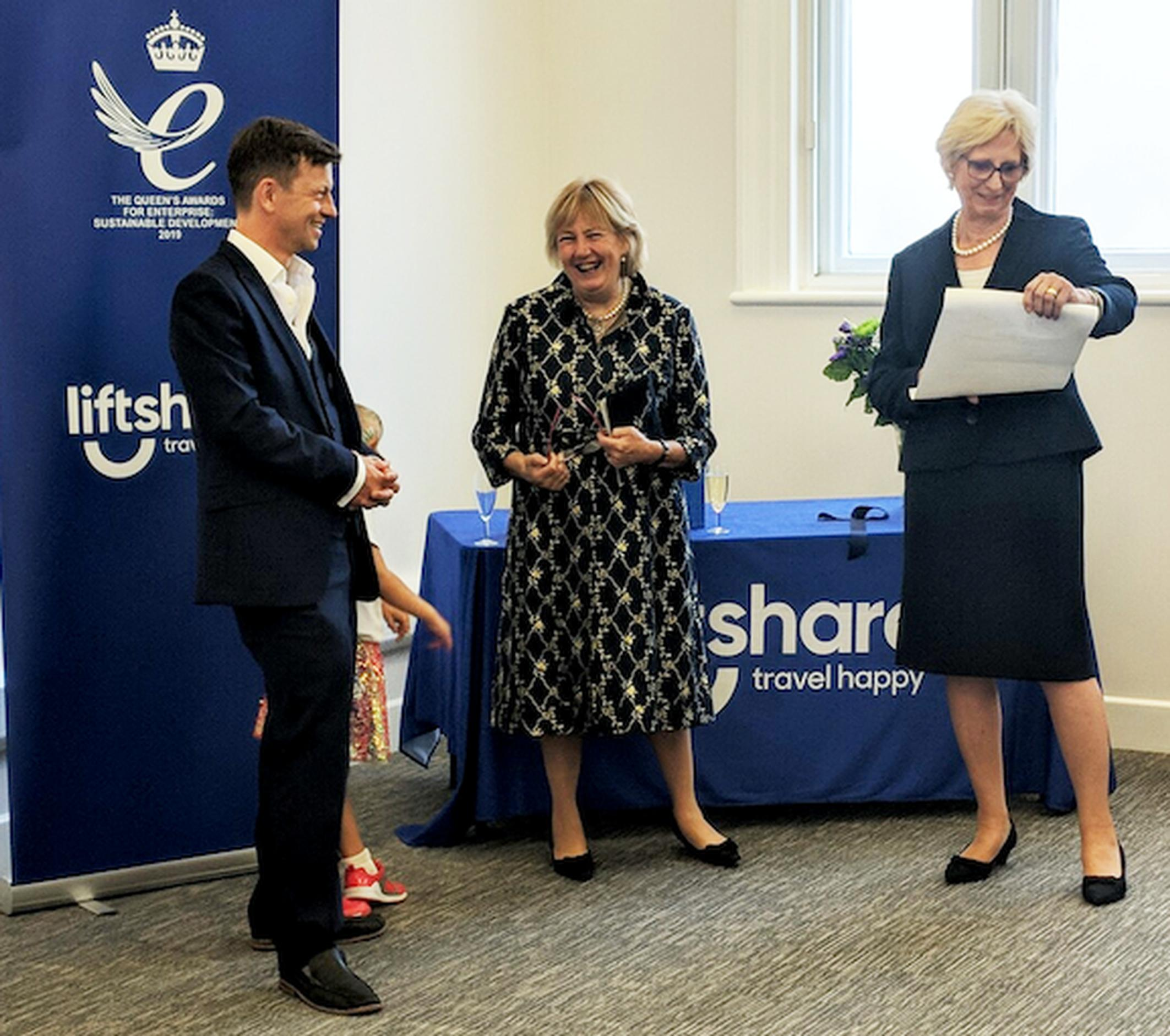 Liftshare receives Queen's Award for Enterprise