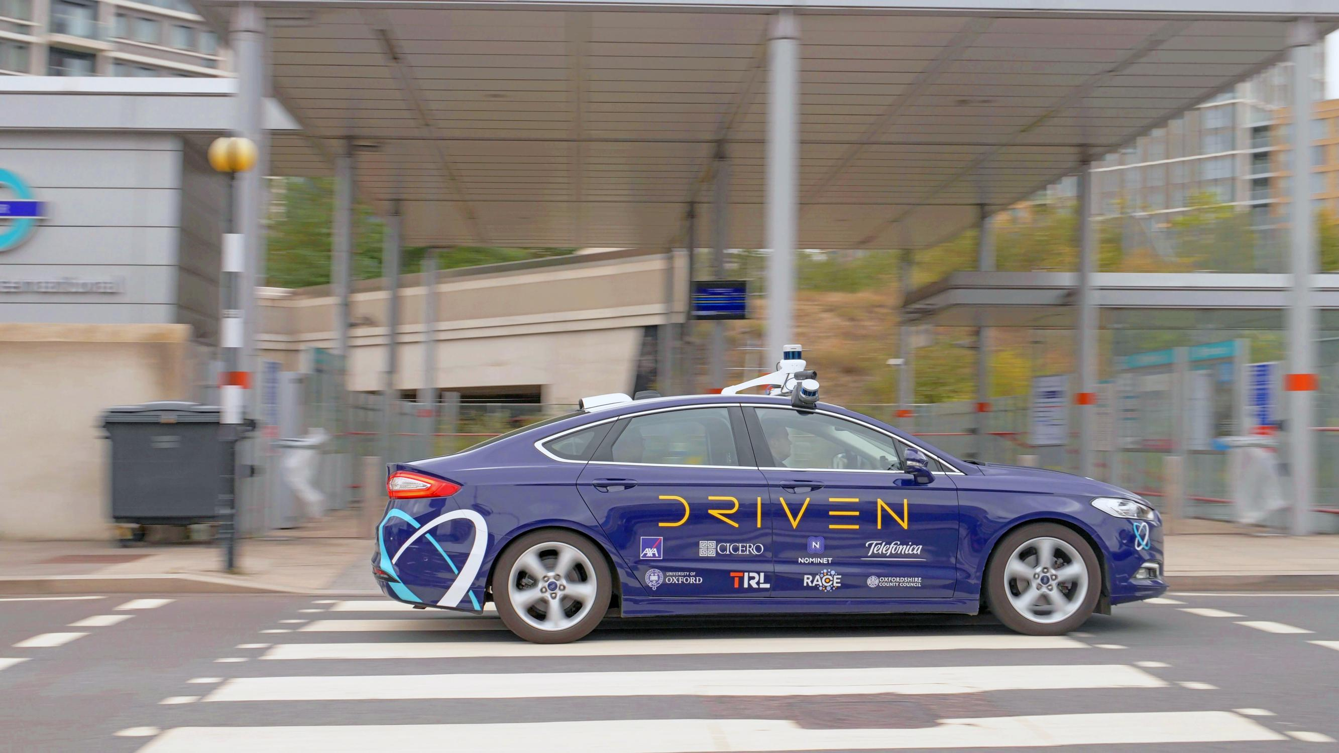 One of the four Oxbotica self-driving cars that took park in a demonstration around Stratford