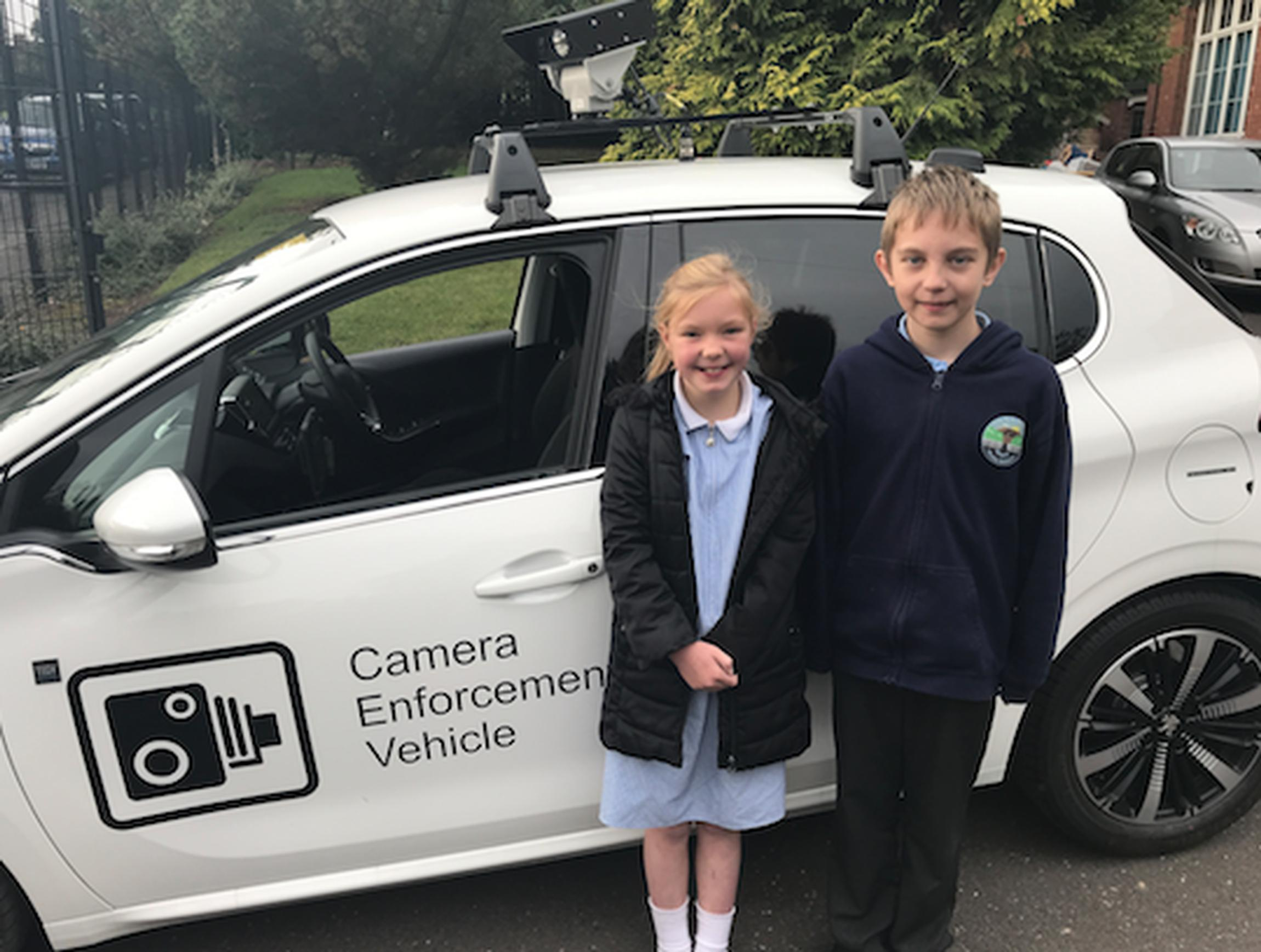 Nottinghamshire schools welcome parking patrol car