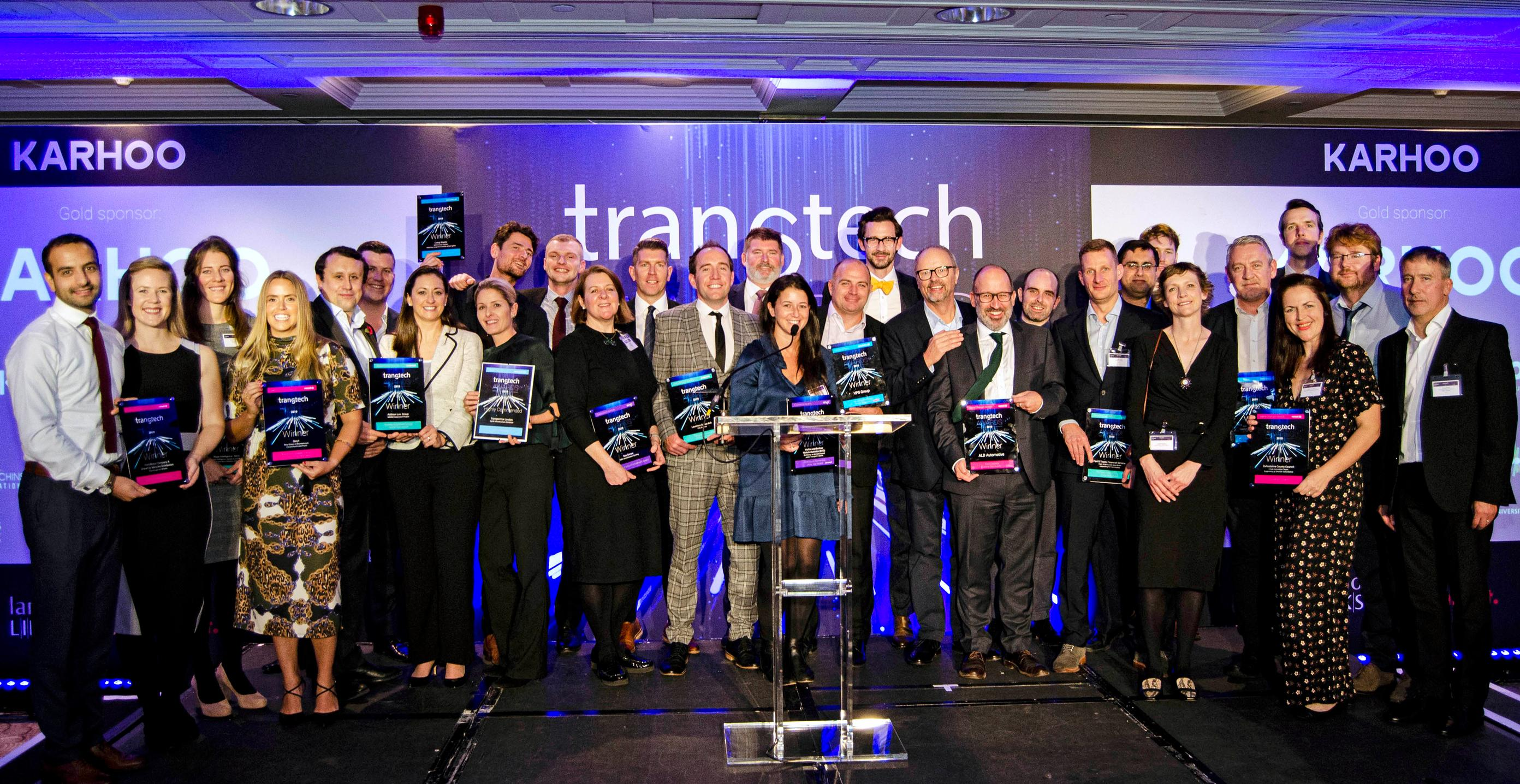 Winners celebrate at the TRANStech Awards