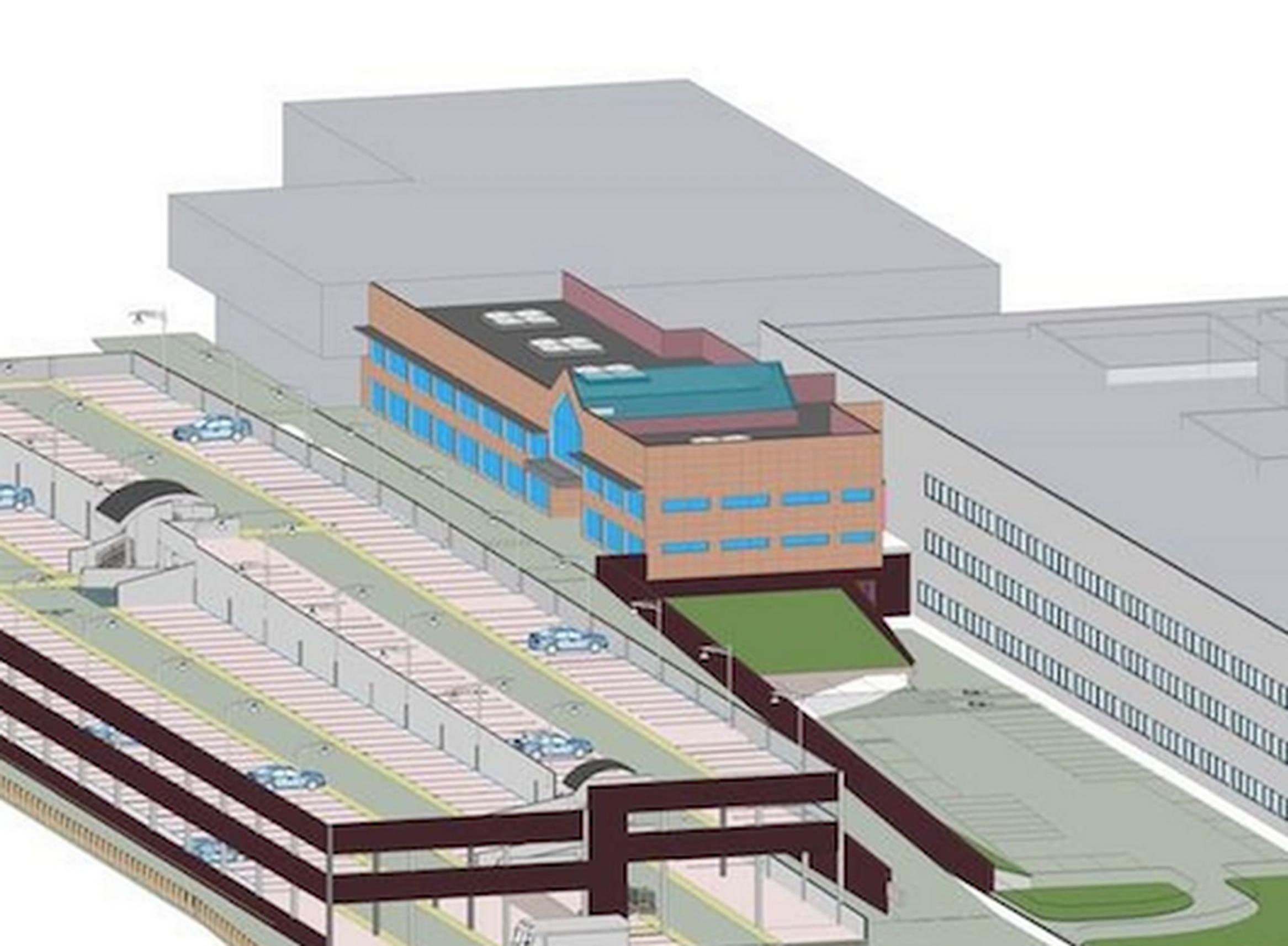 A 3D model of the St Peter`s Hospital car park