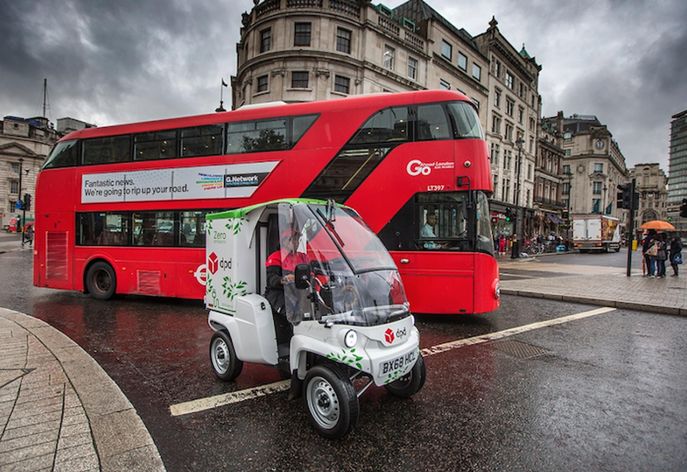 A DPD electric Paxter vehicle in London