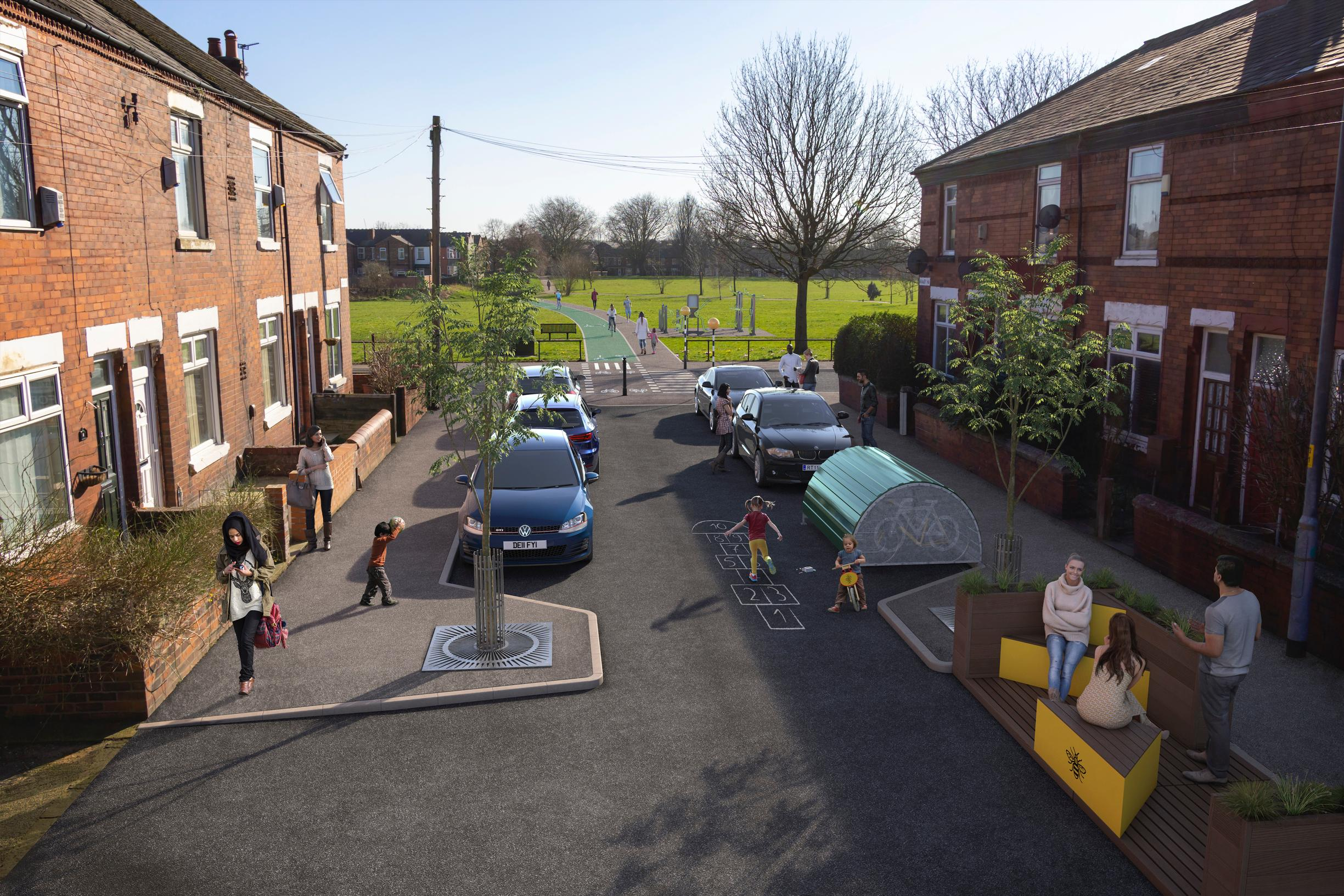 How a street in Levenshulme could look
