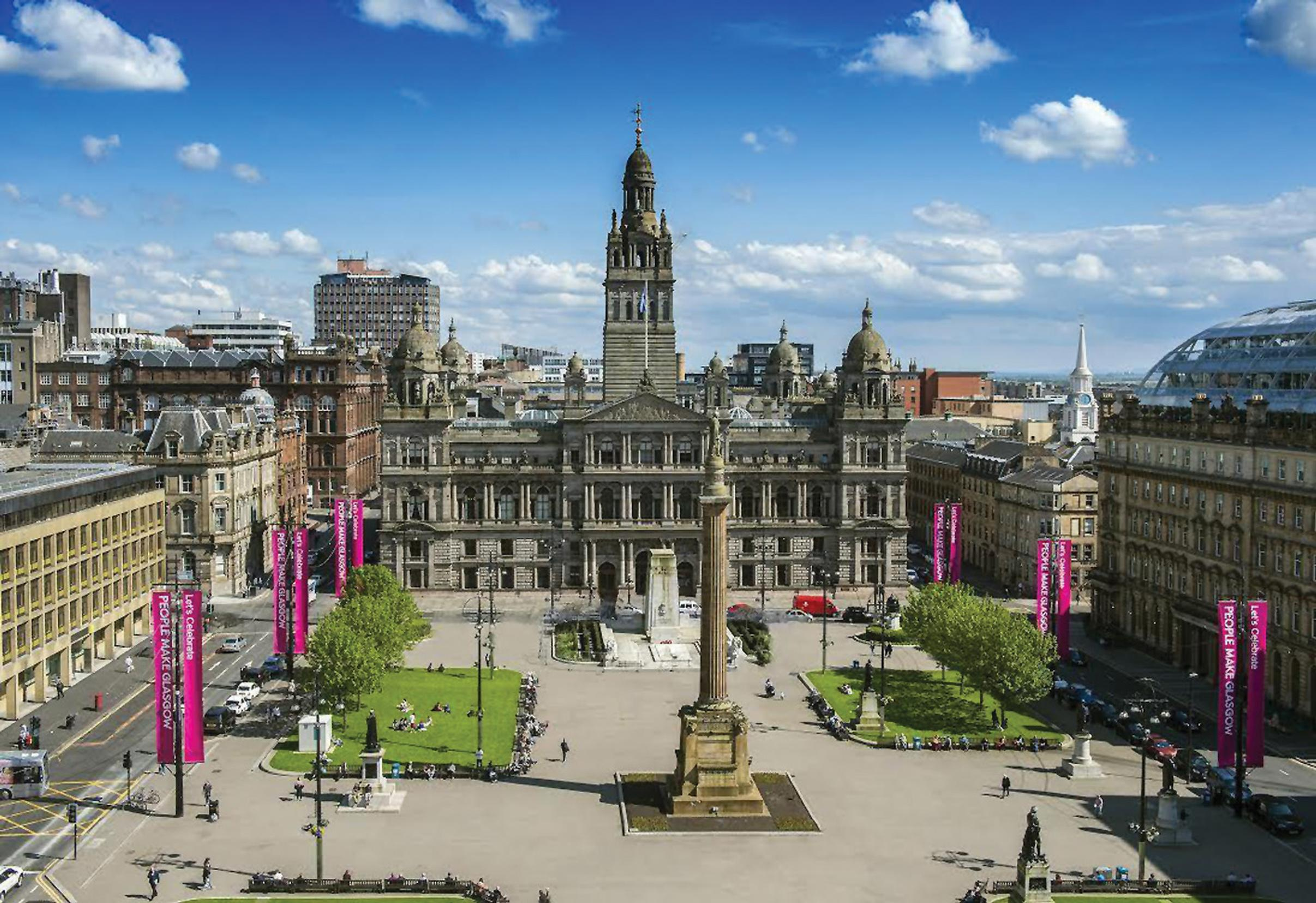 George Square: unique in allowing traffic on all four sides?