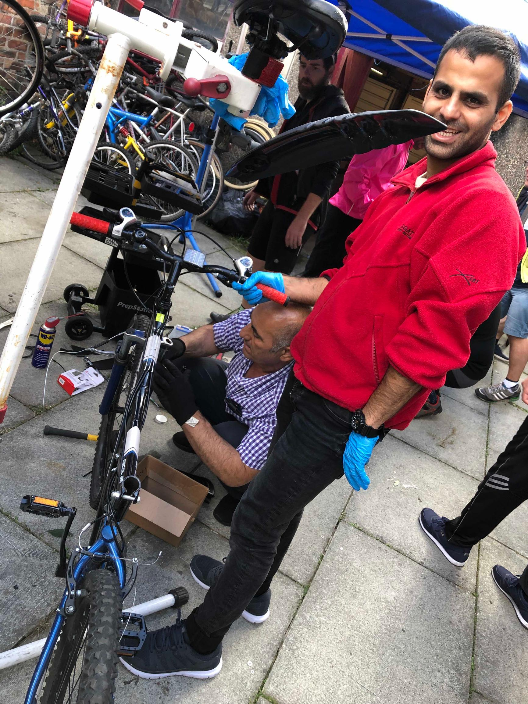 With BikeShed`s help, asylum seekers, refugees and recovering addicts get used bikes, which they are shown how to renovate