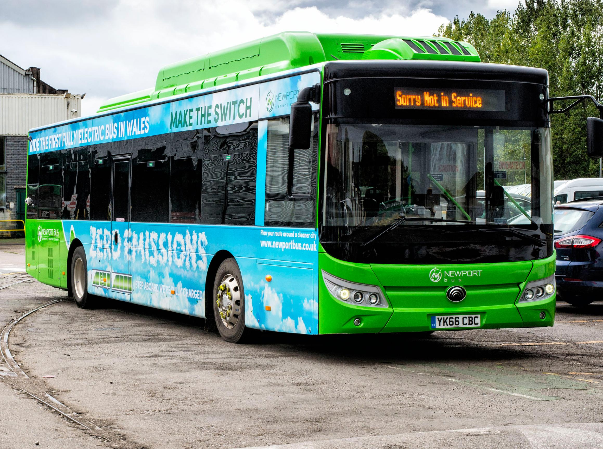Newport Bus has taken delivery of the first electric buses in Wales
