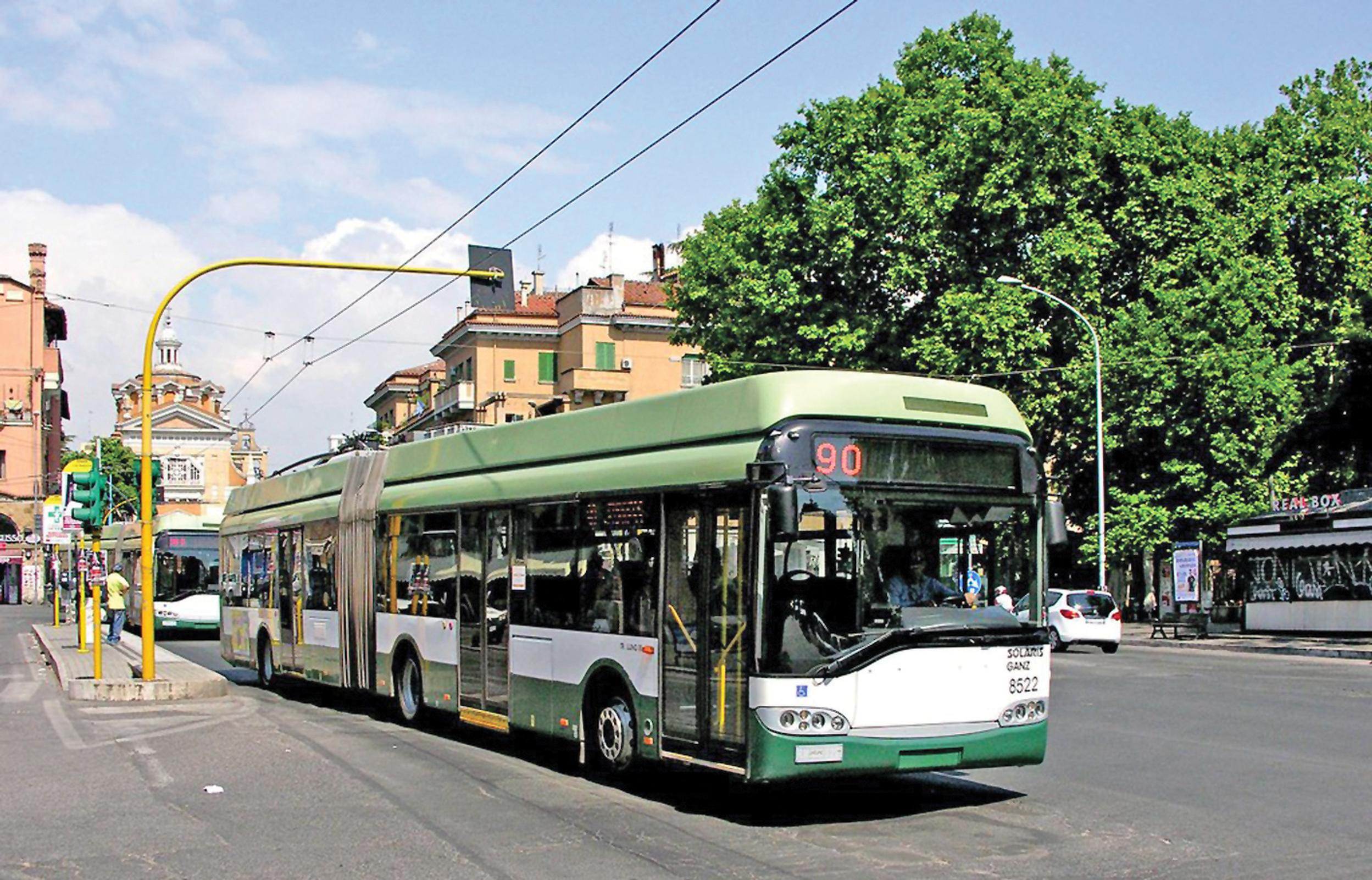 A trolleybus in Rome: could they electrify UK bus networks too, asks Ray Bentley