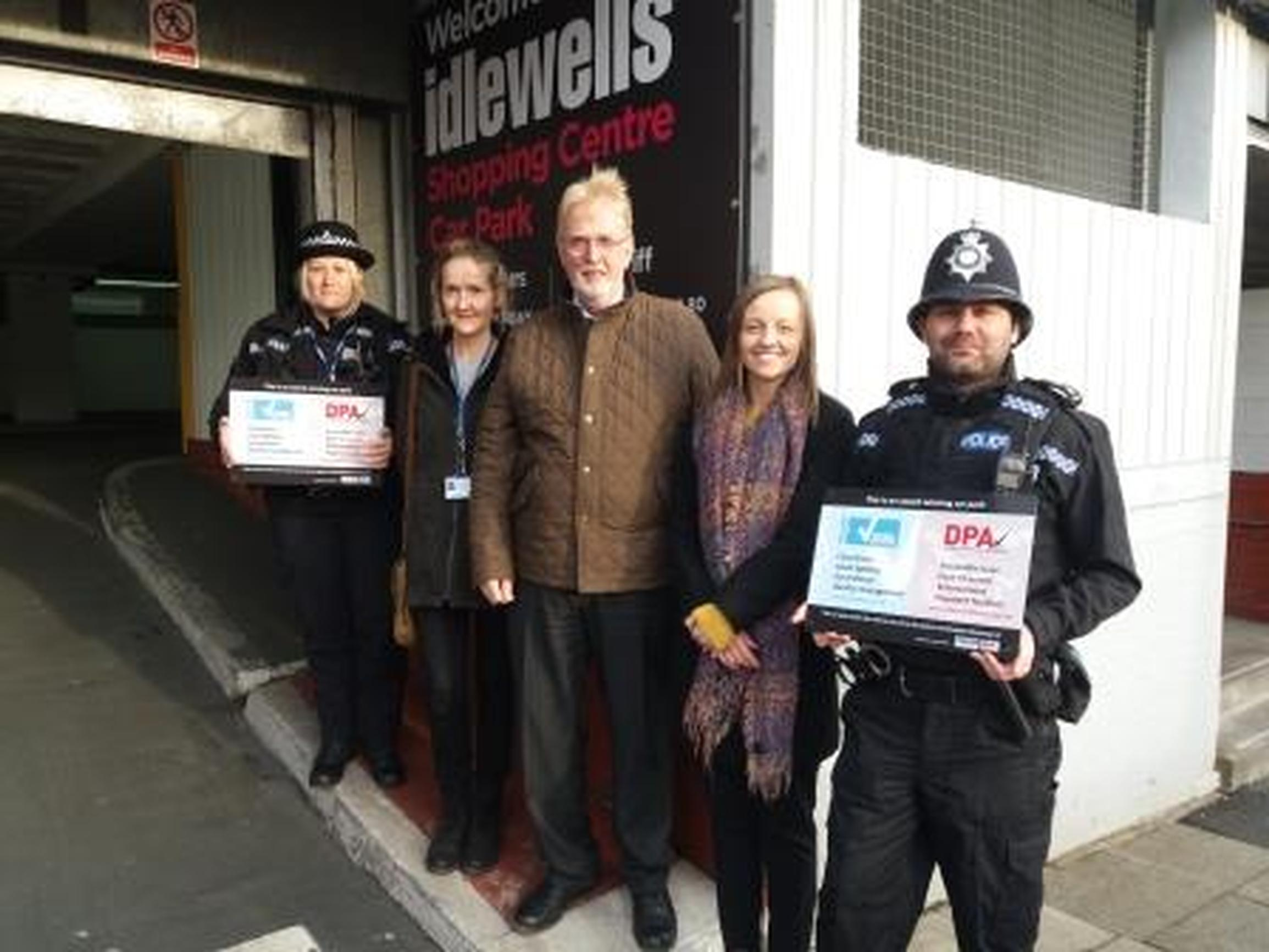 Beat manager PC Julie Armstrong, Notts Police assessor Boguslawa Motylska, BPA area manager Peter Gravells, centre manager Chloe O'Donnell and neighbourhood policing inspector Craig Hall