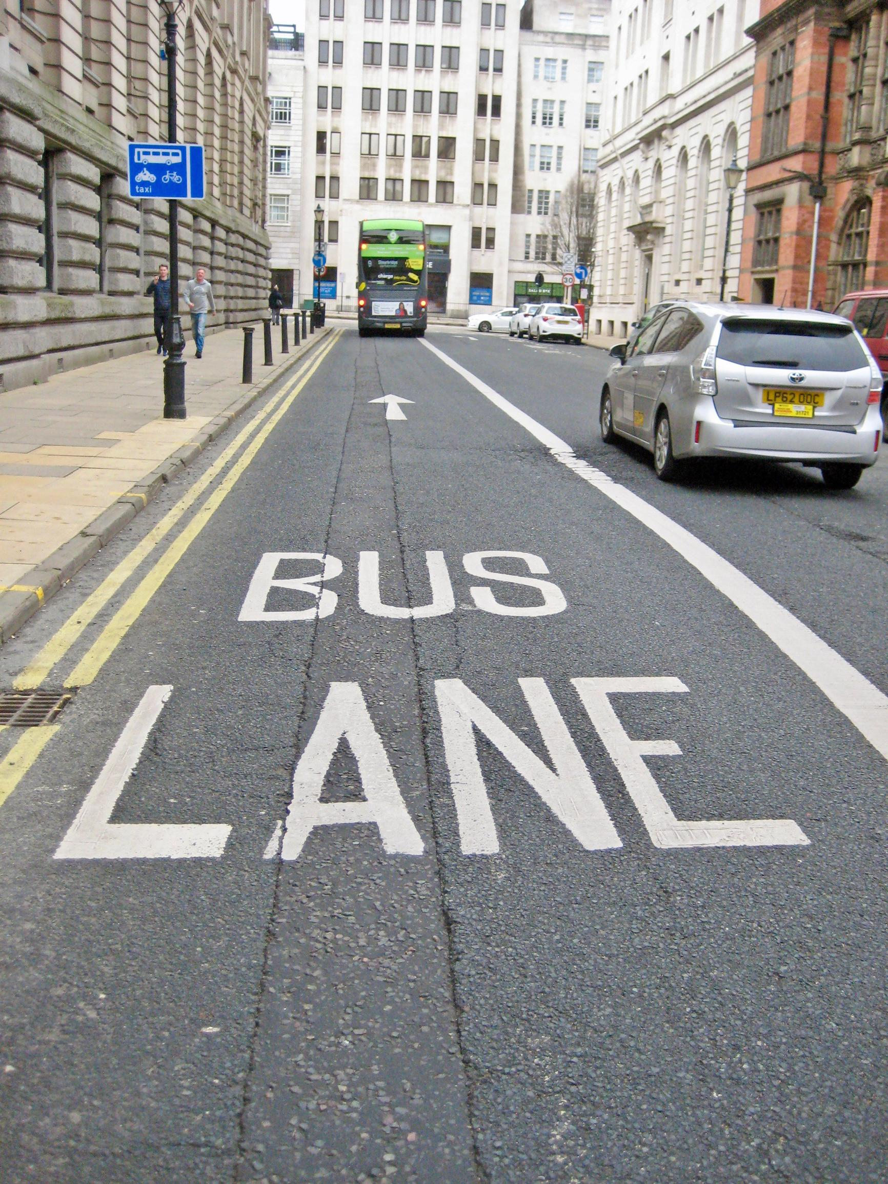 Bus lanes will be installed on the corridors
