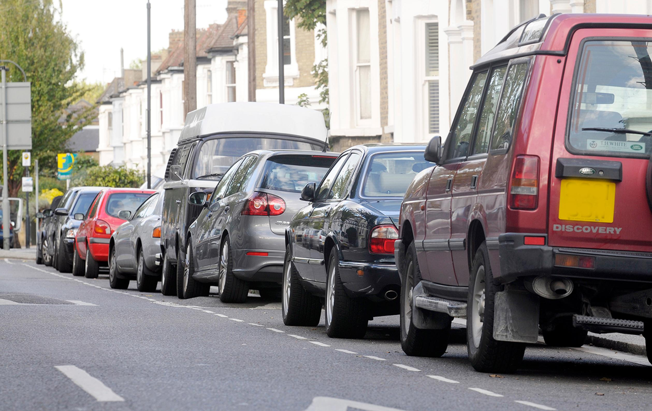 With Londoners staying at home there is increased parking in residential areas