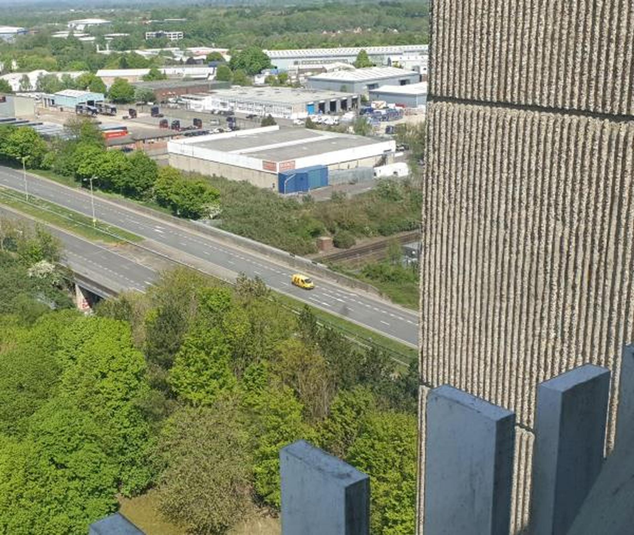View from the AA`s HQ, Fanum House, Basingstoke (Mark Kent)